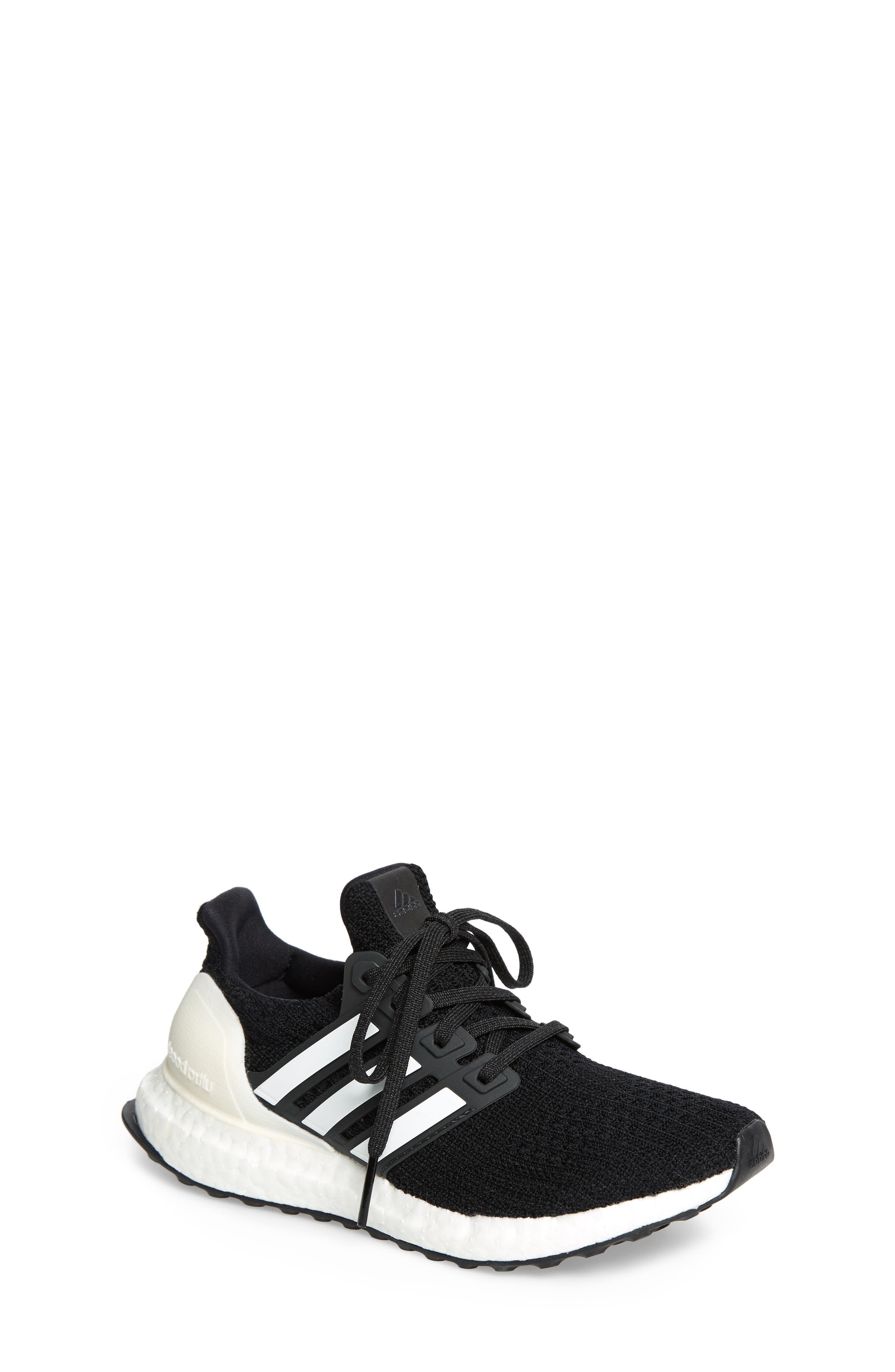 UltraBoost Sneaker,                             Main thumbnail 1, color,                             BLACK/ CLOUD WHITE/ CARBON