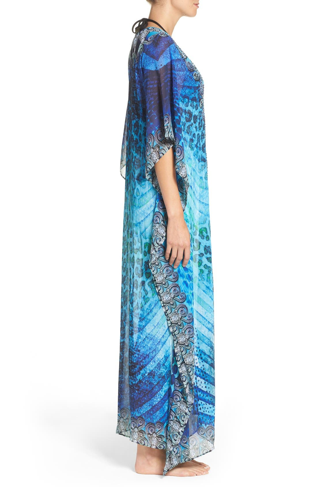 'Santorini' Long Kaftan,                             Alternate thumbnail 4, color,                             400