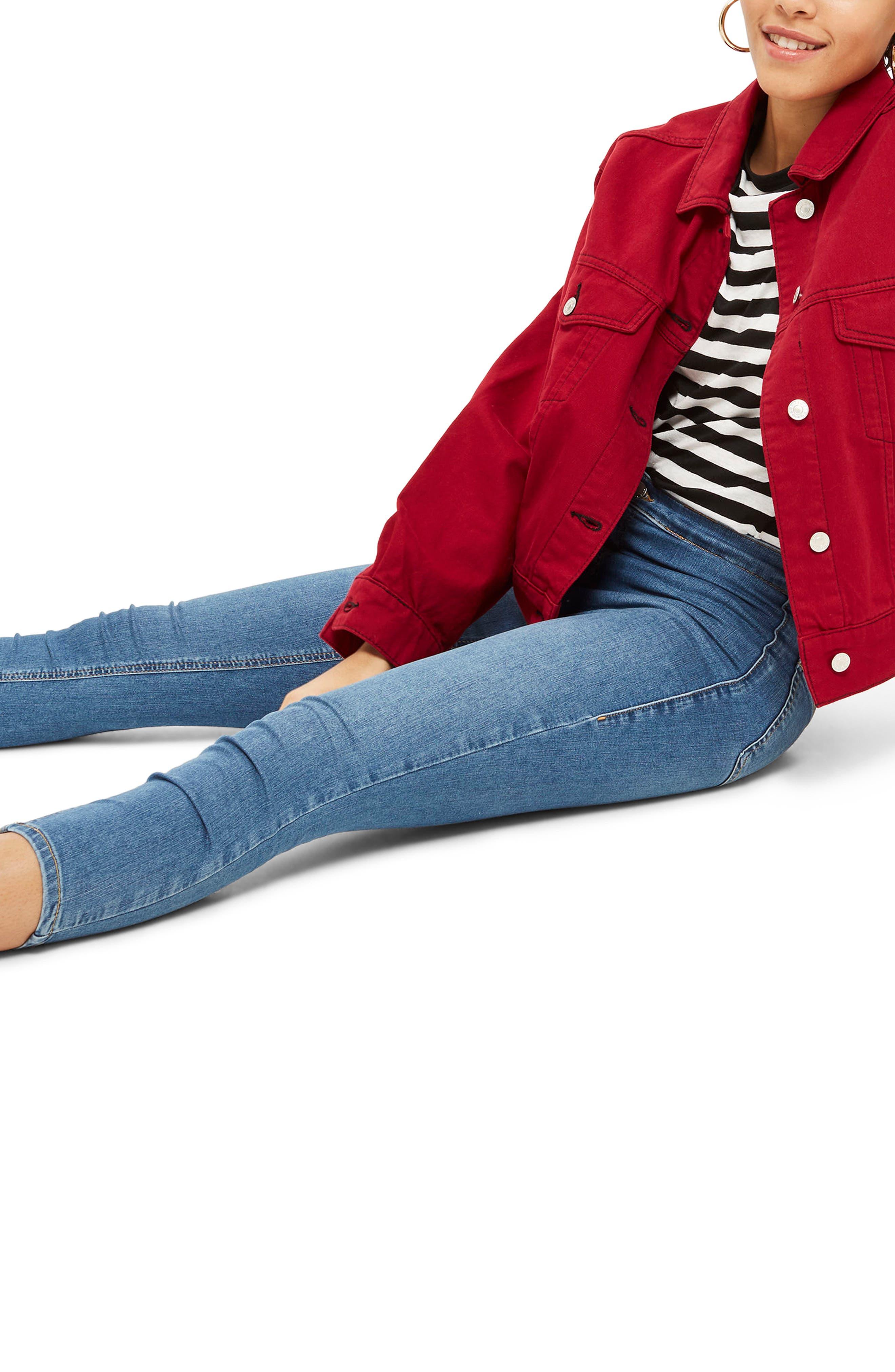 Joni Skinny Jeans,                             Alternate thumbnail 3, color,                             MID DENIM