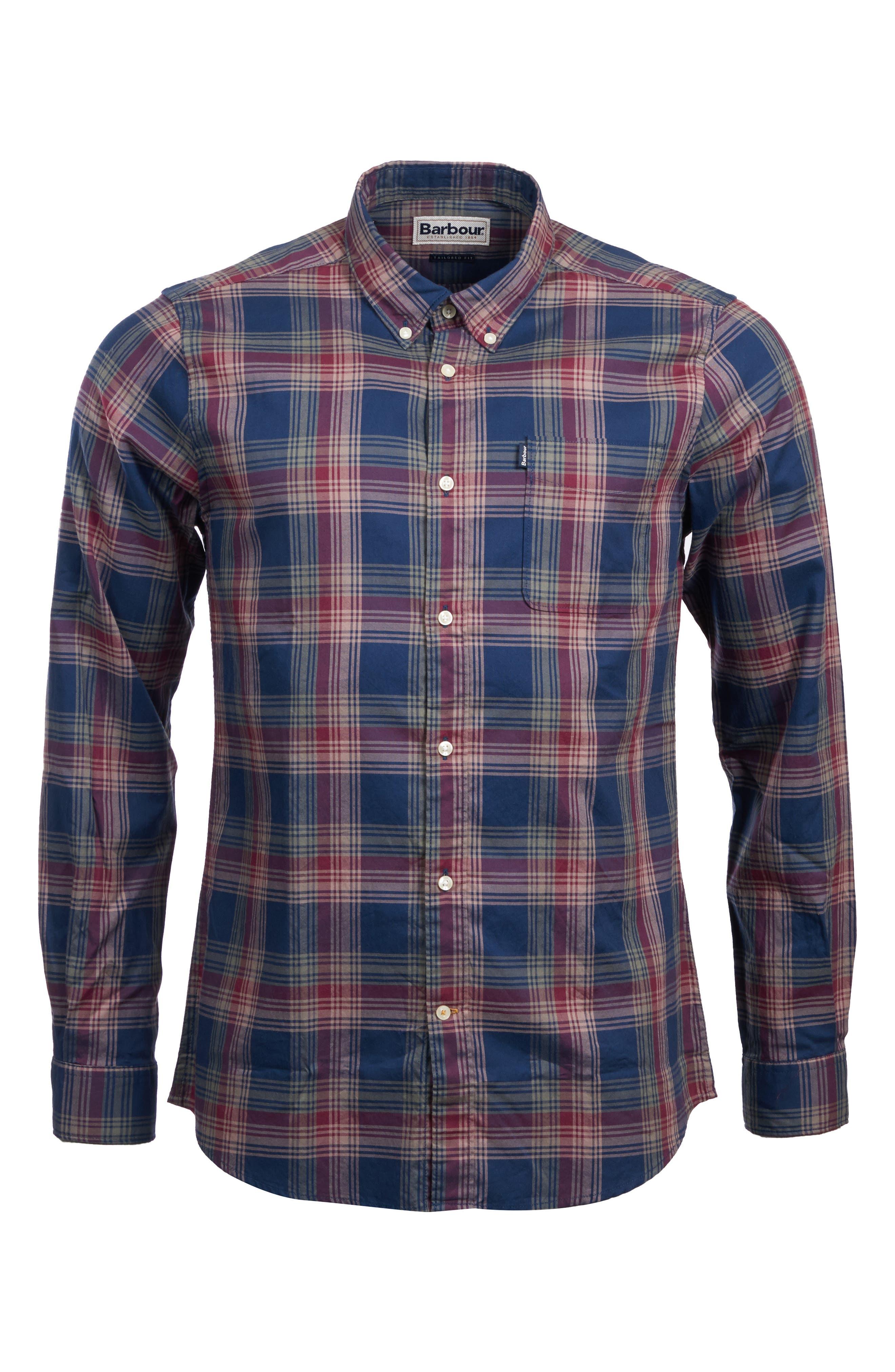 Endsleigh Highland Check Woven Shirt,                             Alternate thumbnail 5, color,                             NAVY