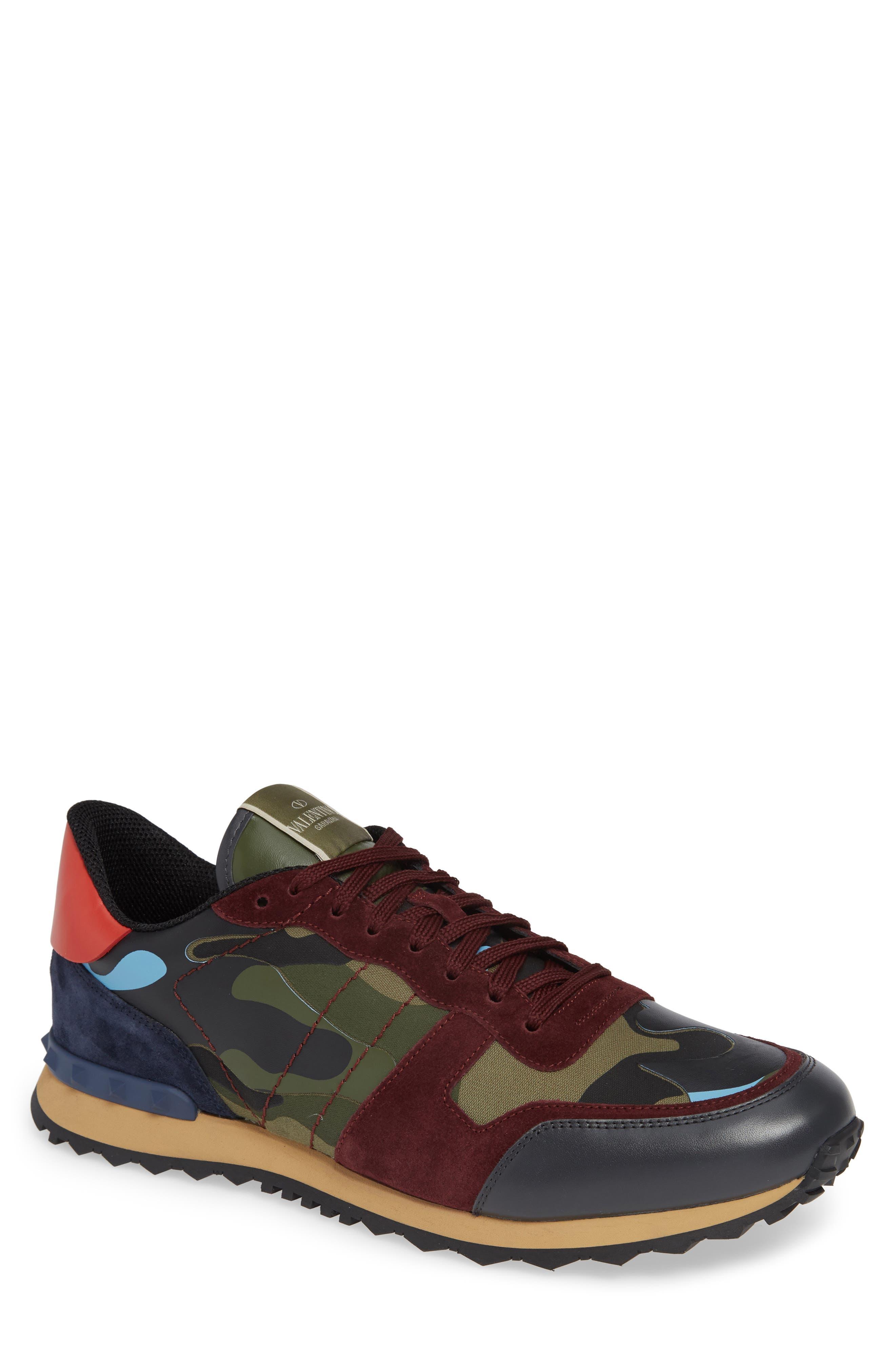 Camo Rockrunner Sneaker,                         Main,                         color, LIGHT BLUE/ BORDEAUX