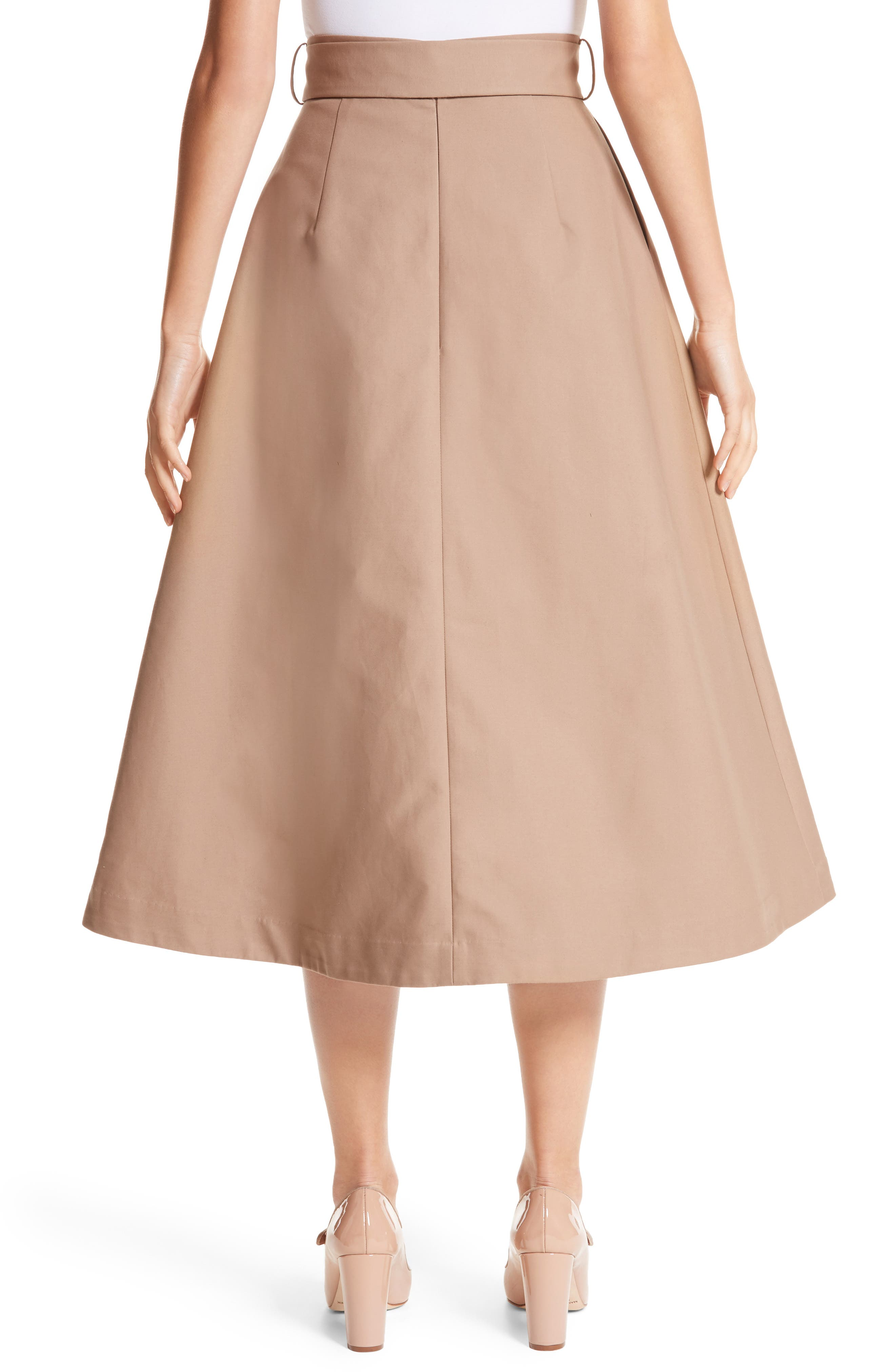 Belted Cotton Skirt,                             Alternate thumbnail 2, color,                             240