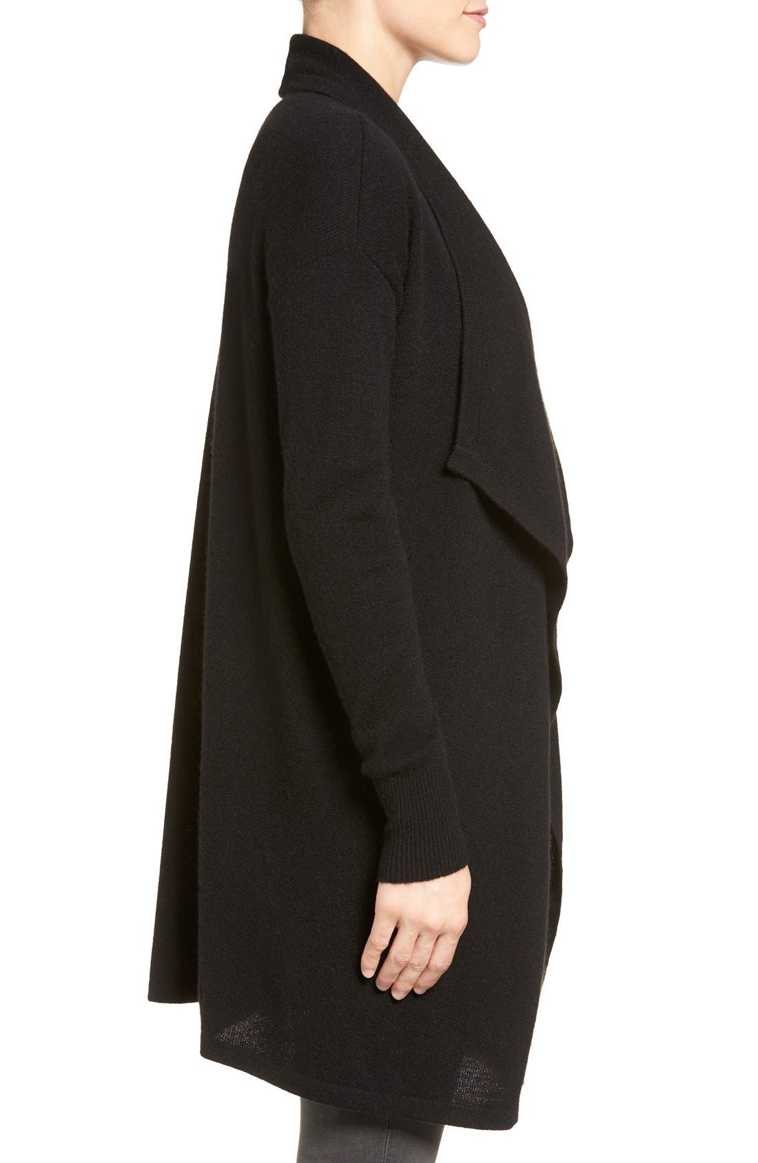 Cashmere Long Drape Front Cardigan,                             Alternate thumbnail 47, color,
