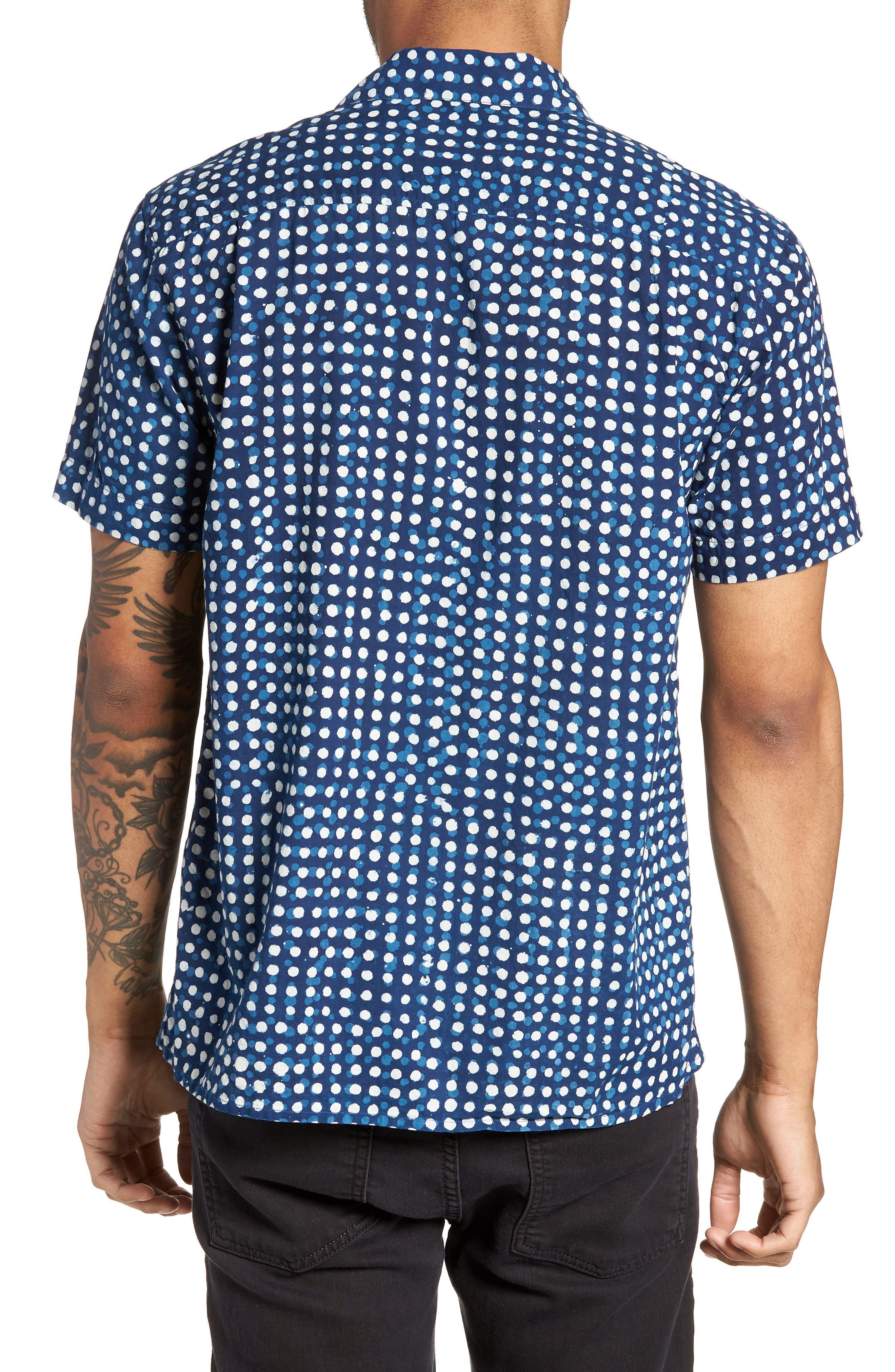 Malick Slim Fit Dot Sport Shirt,                             Alternate thumbnail 2, color,                             406