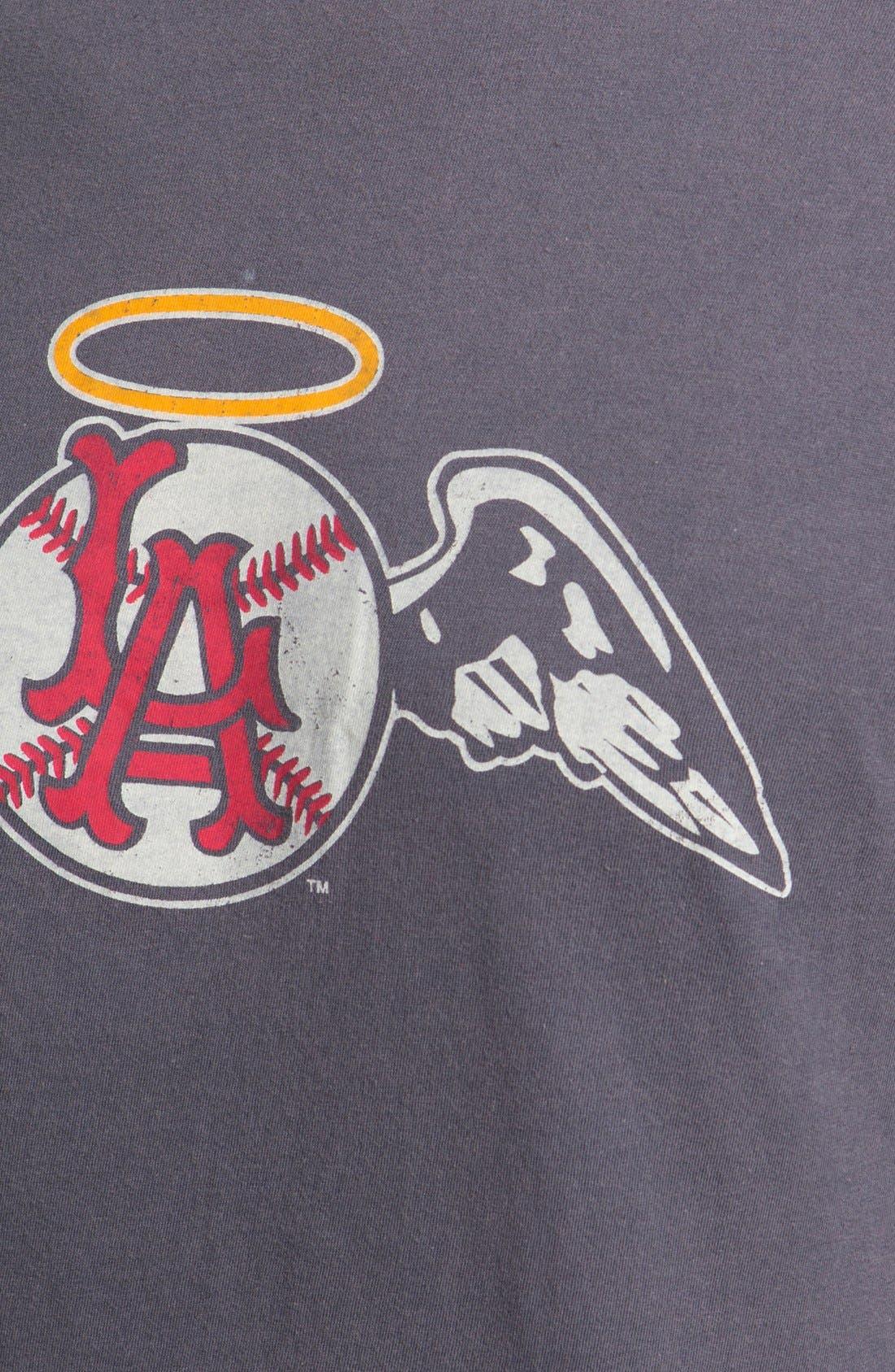 'Los Angeles Angels' Trim Fit T-Shirt,                             Alternate thumbnail 3, color,                             455
