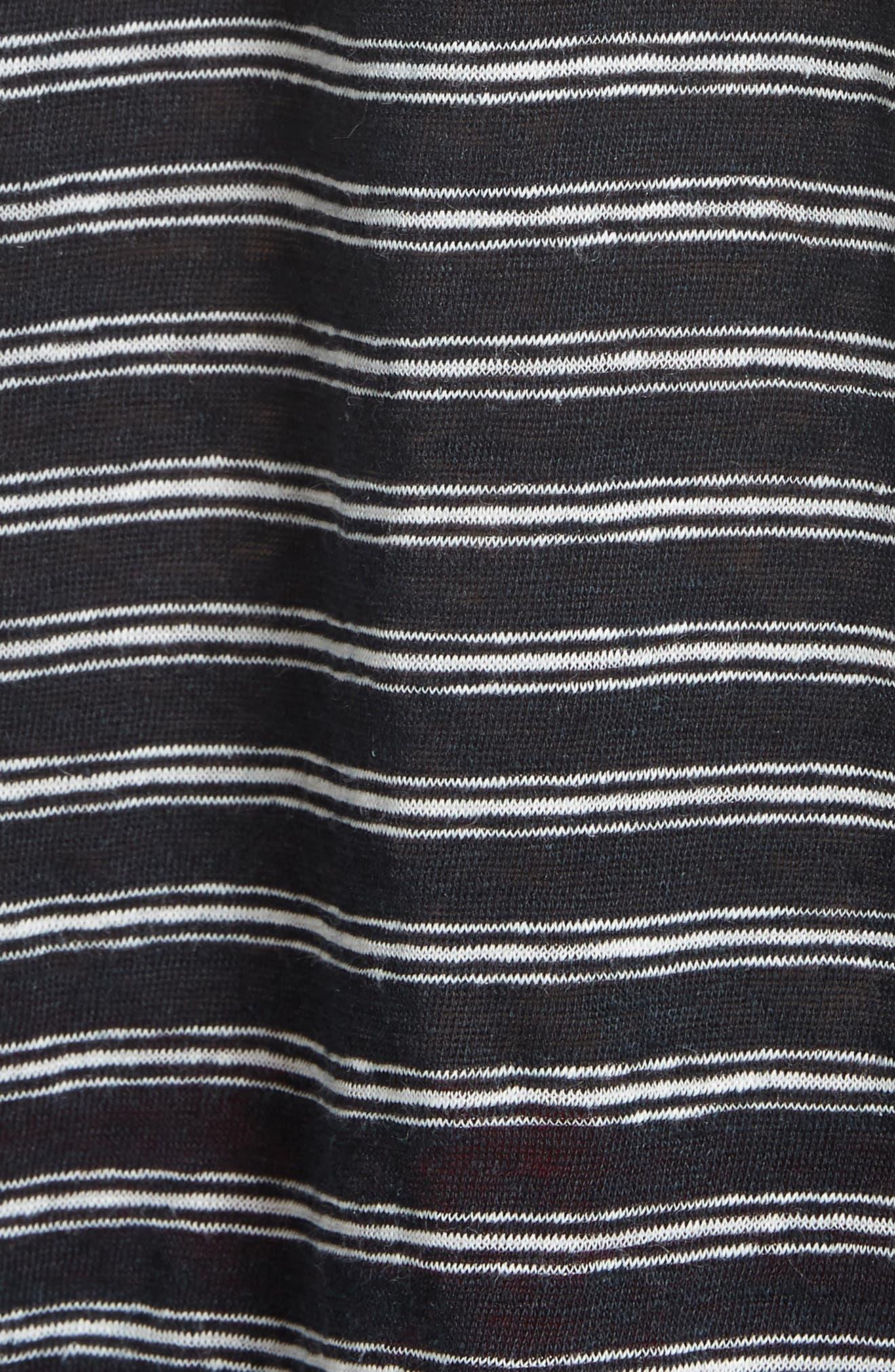 Adaira Stripe Linen Tee,                             Alternate thumbnail 5, color,                             006