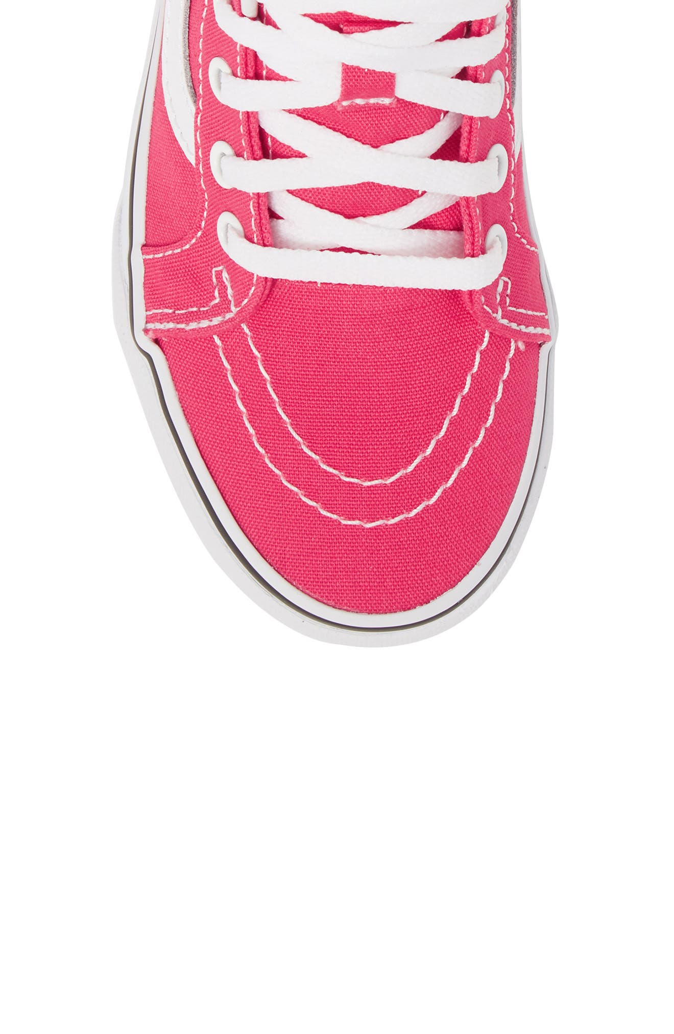 Sk8-Hi Zip Sneaker,                             Alternate thumbnail 5, color,                             AZALEA/ TRUE WHITE