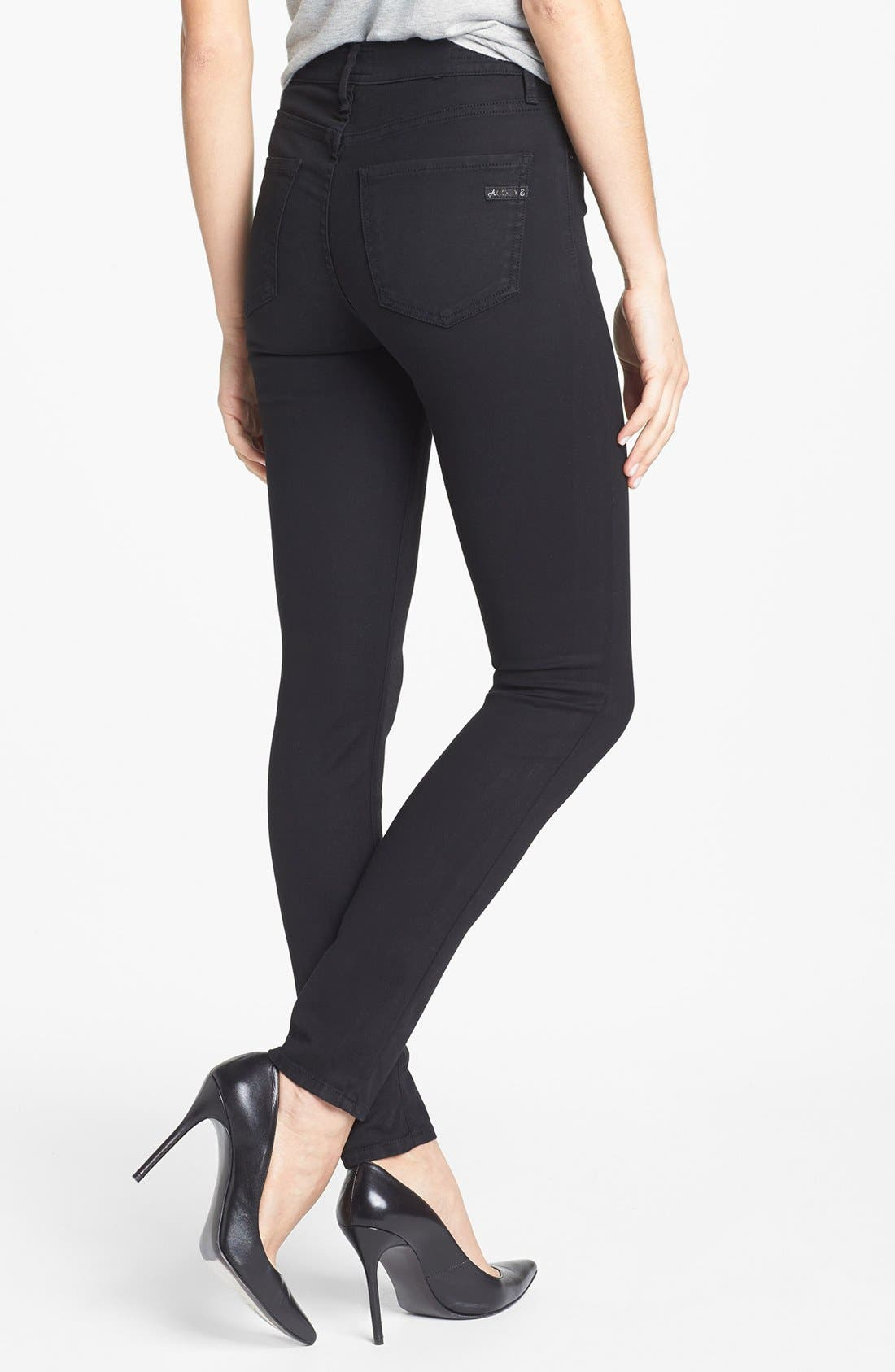 AGOLDE,                             A Gold E 'Sophie' High Rise Skinny Jeans,                             Alternate thumbnail 3, color,                             004