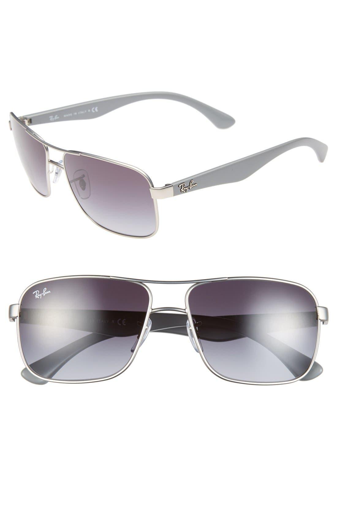 59mm Pilot Sunglasses,                         Main,                         color, 040