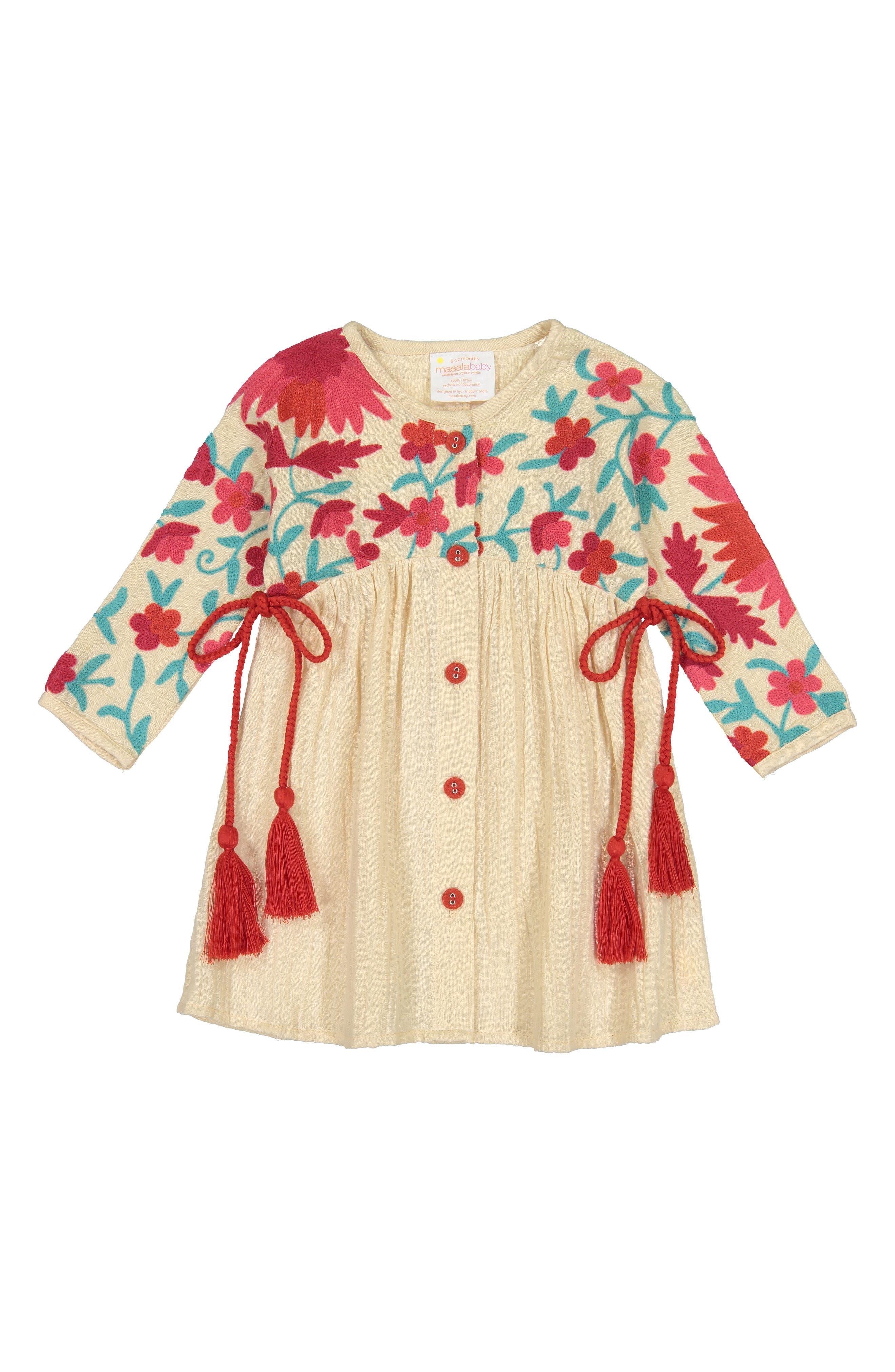 Organic Cotton Aasha Dress,                             Main thumbnail 1, color,                             SAND