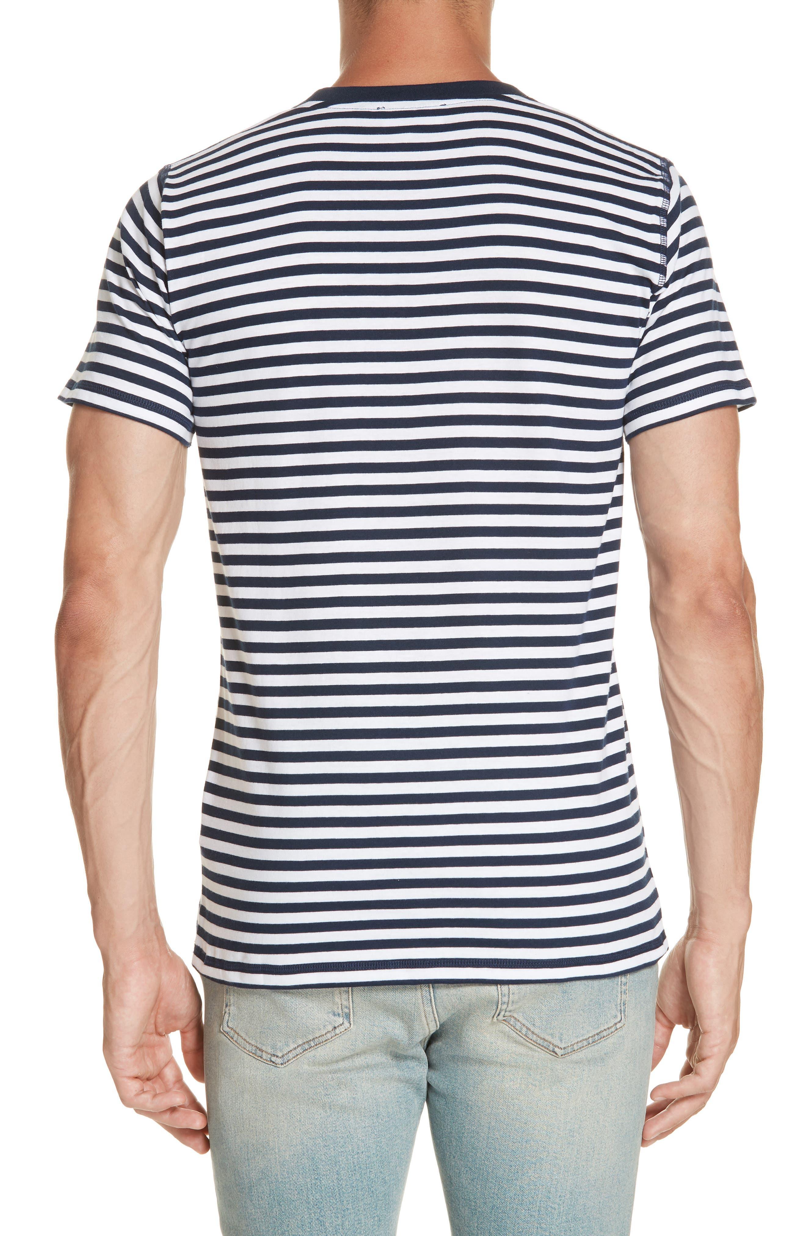 Norse Project Niels Classic Stripe T-Shirt,                             Alternate thumbnail 2, color,                             BLUE