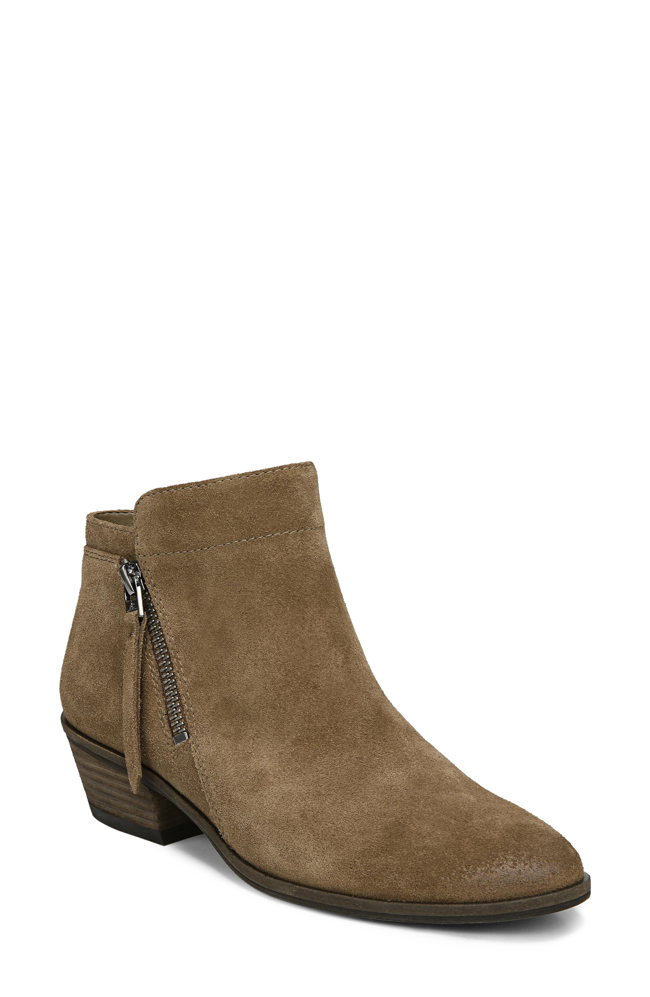 Packer Bootie,                         Main,                         color, DARK TAUPE SUEDE LEATHER