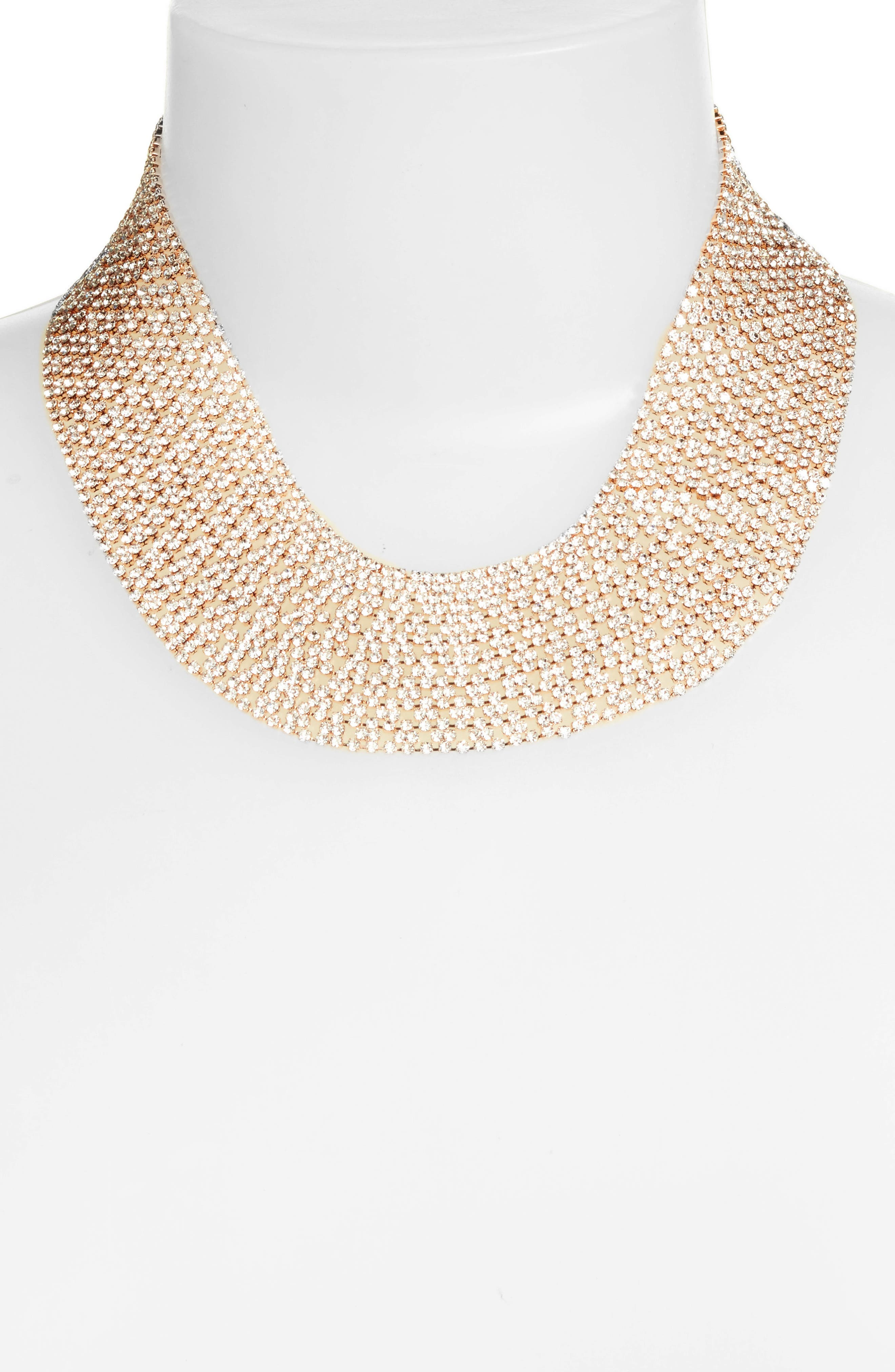 Crystal Collar Necklace,                             Alternate thumbnail 7, color,