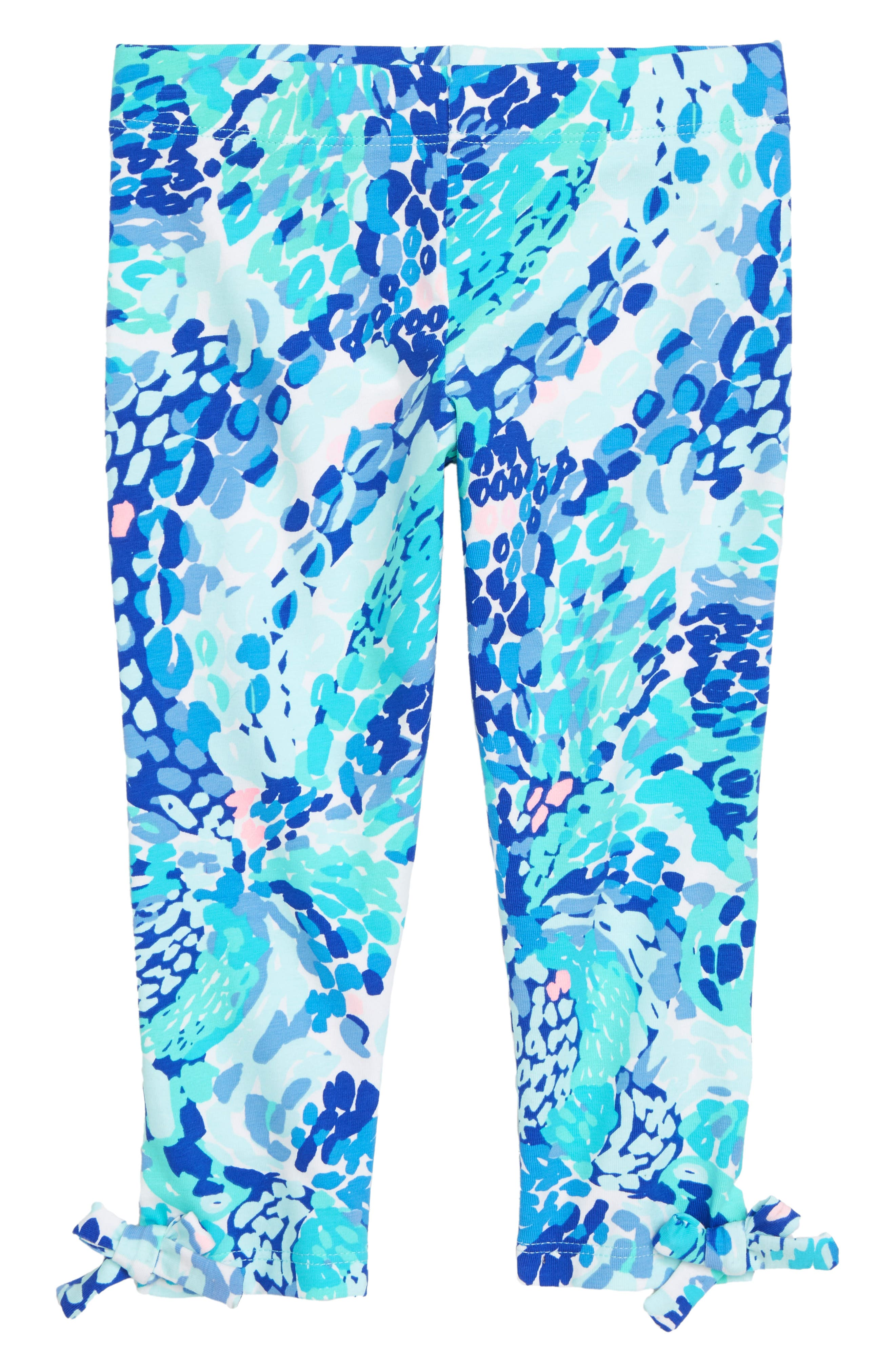 Toddler Girls Lilly Pulitzer Maia Crop Leggings Size XS (23T)  Blue