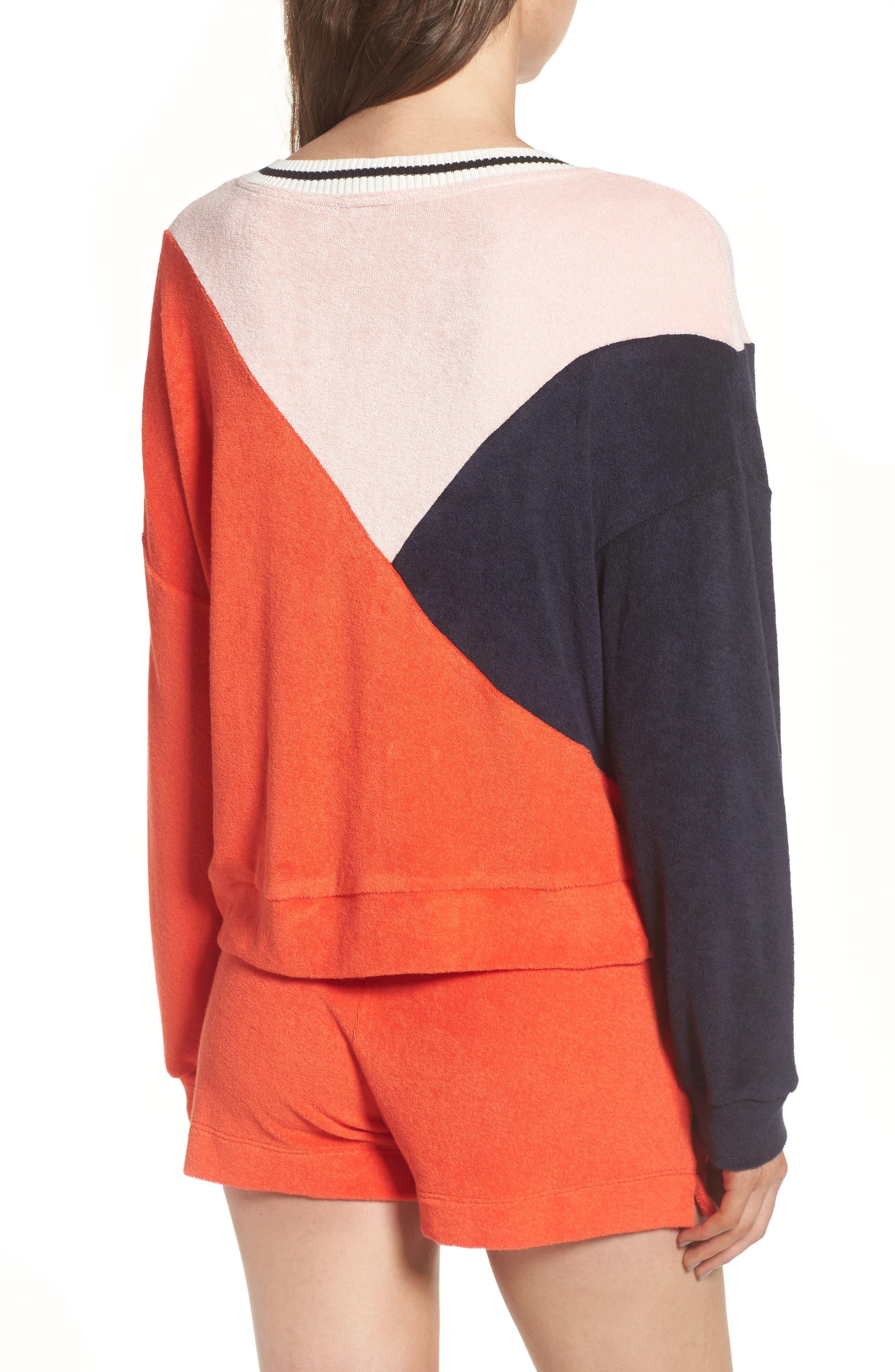 x Margherita Sportivo French Terry Sweatshirt,                             Alternate thumbnail 2, color,                             602