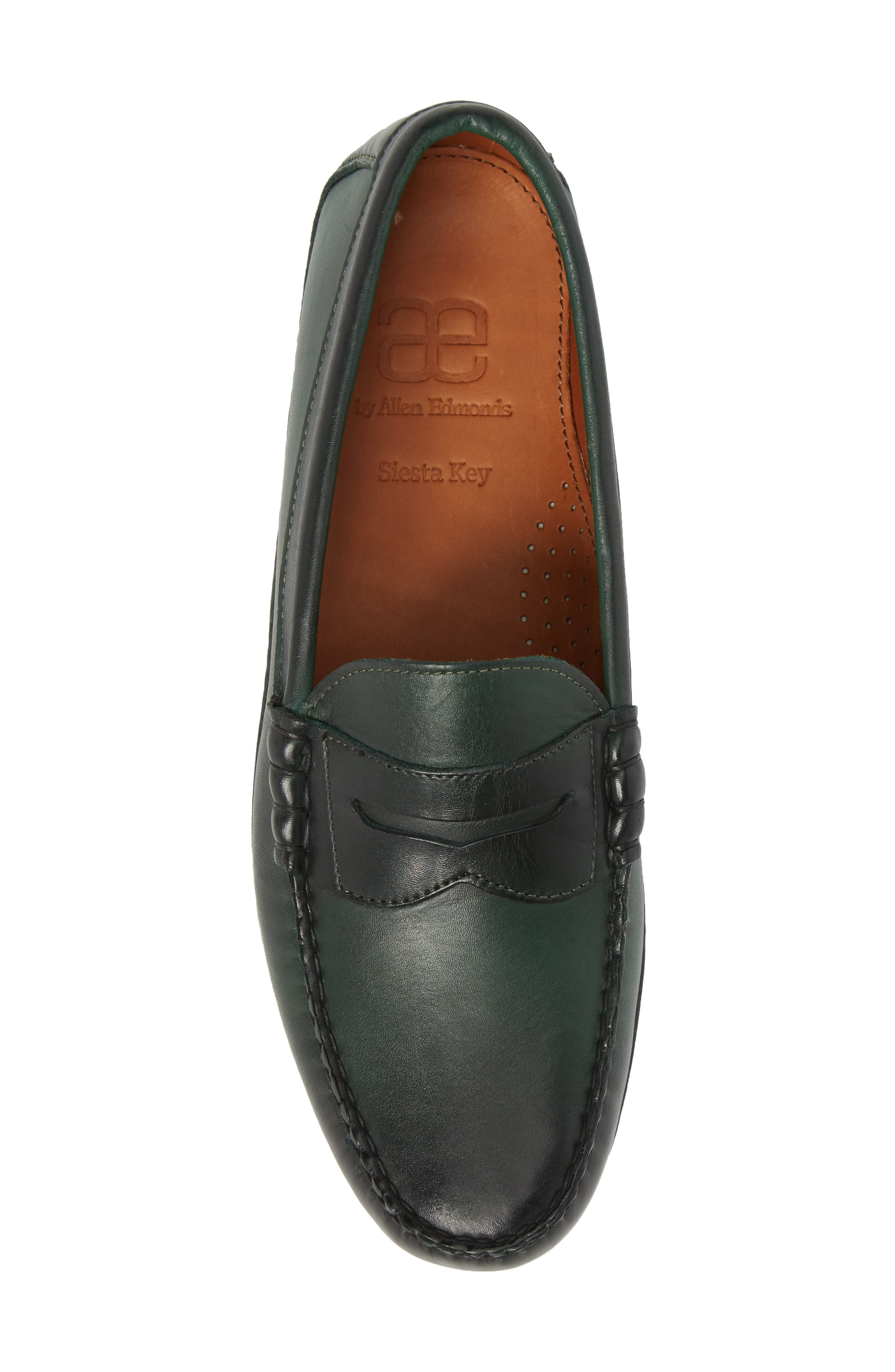 Siesta Key Penny Loafer,                             Alternate thumbnail 5, color,                             GREEN LEATHER