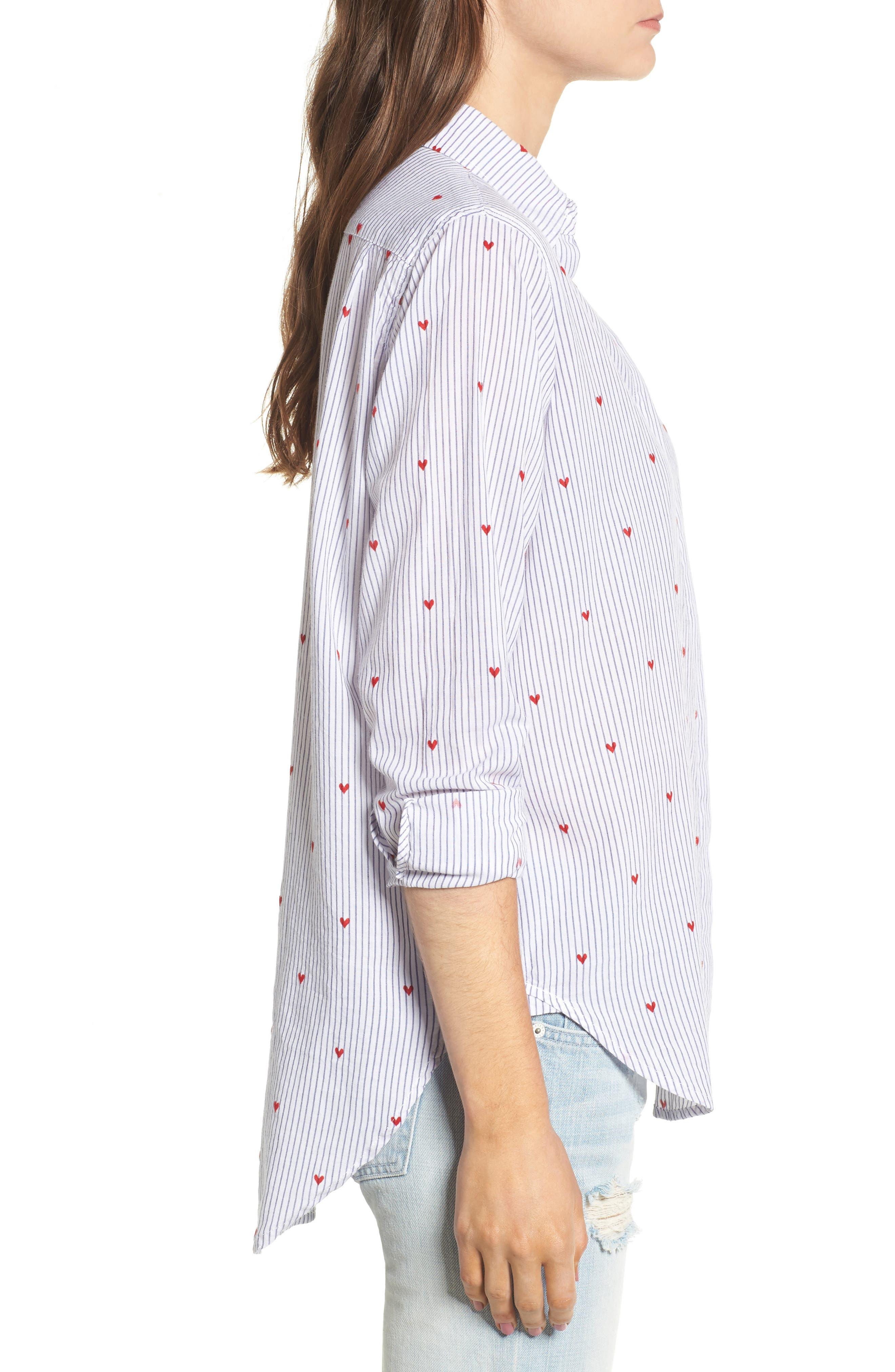 Taylor Heart Stripe Shirt,                             Alternate thumbnail 3, color,                             400