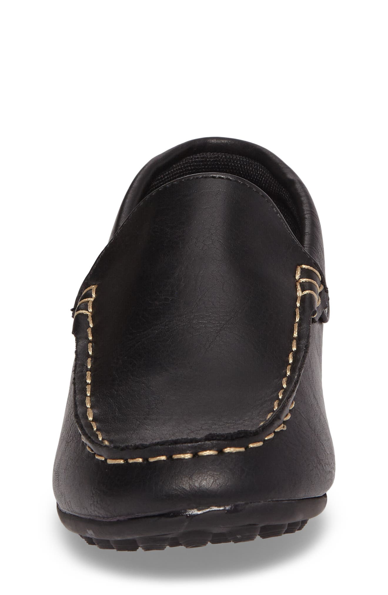 Compton Driving Loafer,                             Alternate thumbnail 4, color,                             BLACK