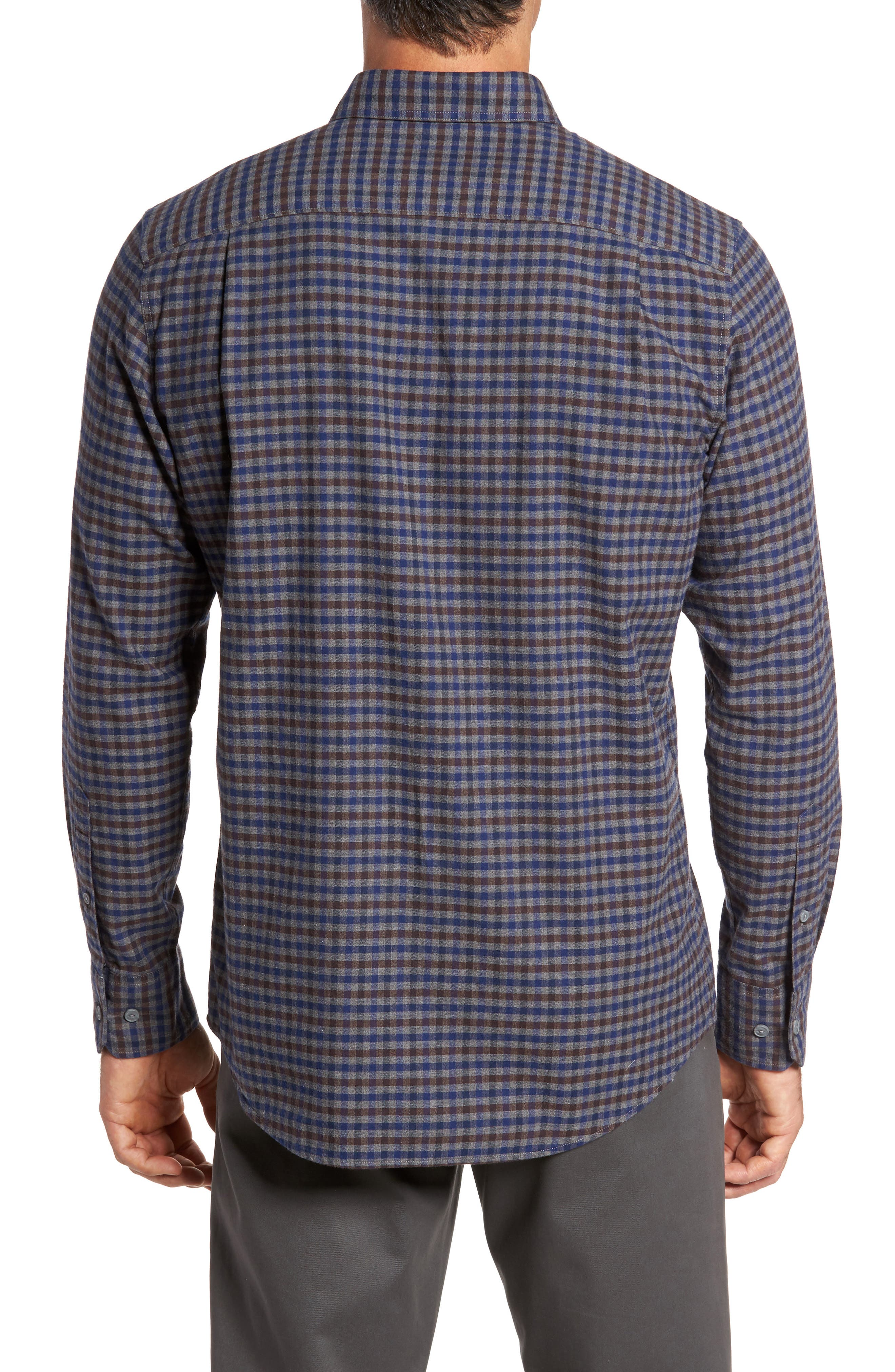 Regular Fit Lumber Check Flannel Shirt,                             Alternate thumbnail 2, color,                             030
