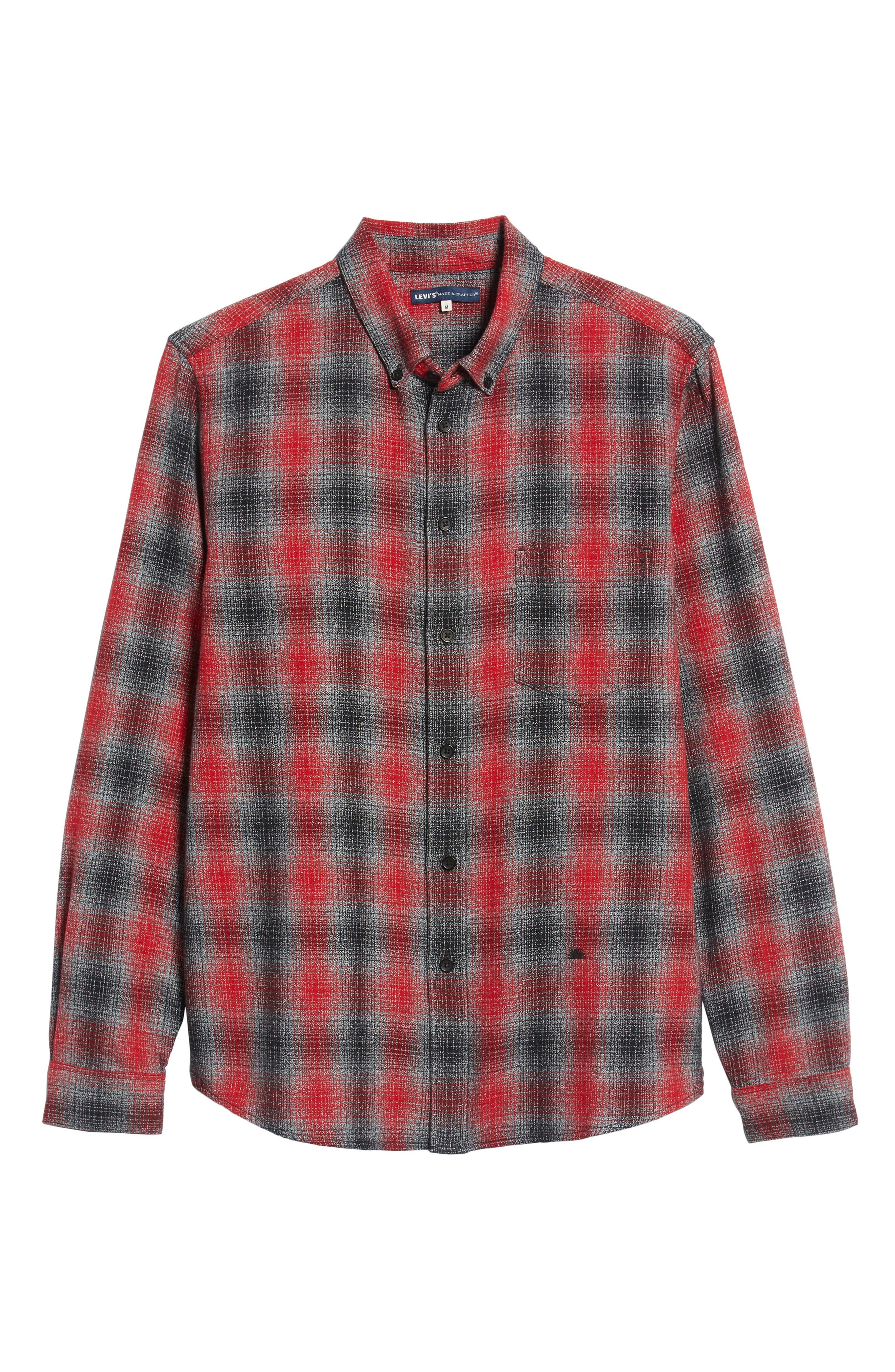 LEVI'S<SUP>®</SUP> MADE & CRAFTED<SUP>™</SUP>,                             Standard Plaid Sport Shirt,                             Alternate thumbnail 5, color,                             800