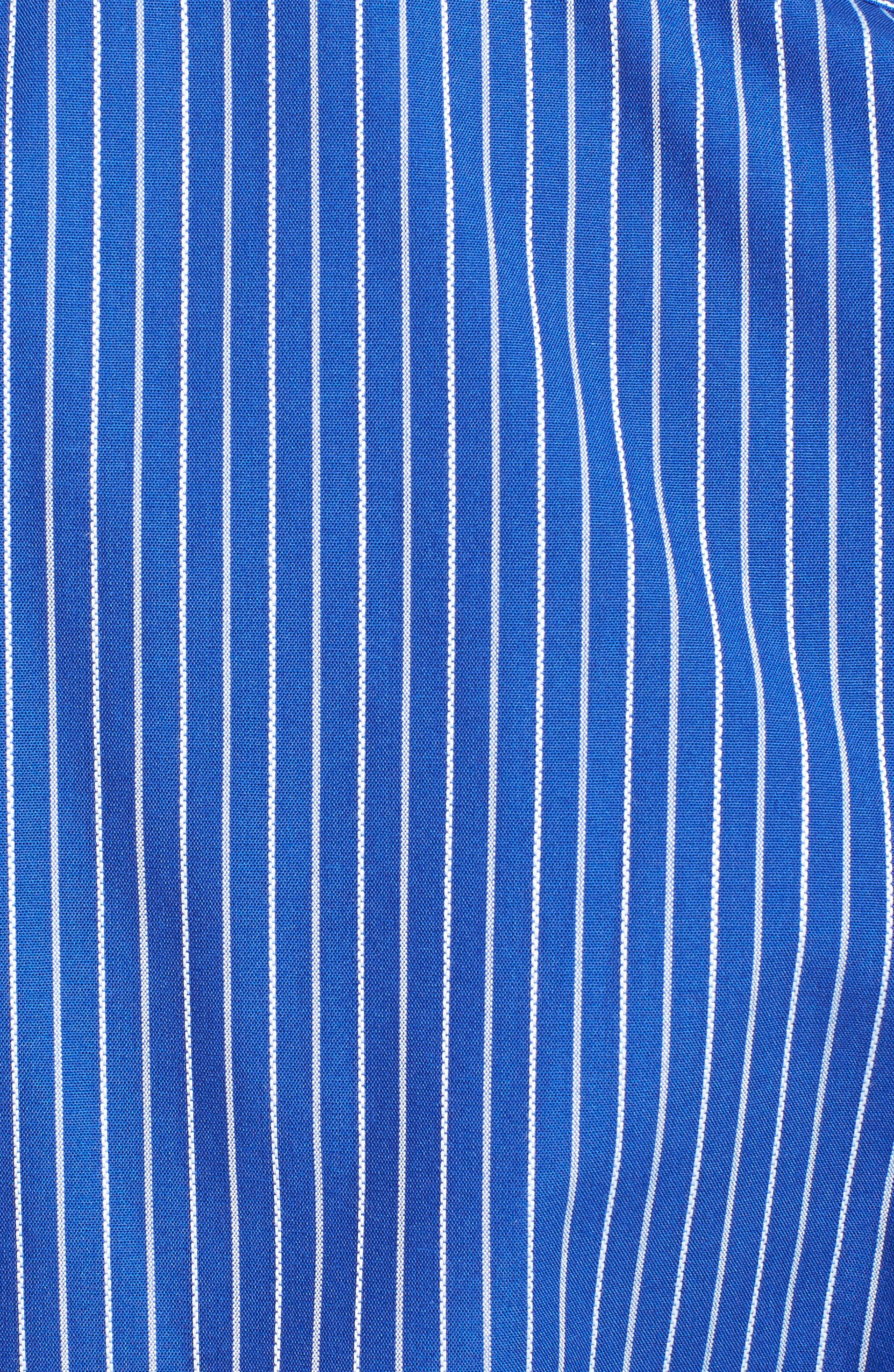 'Epic Easy Care' Classic Fit Vertical Pinstripe Wrinkle Resistant Sport Shirt,                             Alternate thumbnail 4, color,                             460