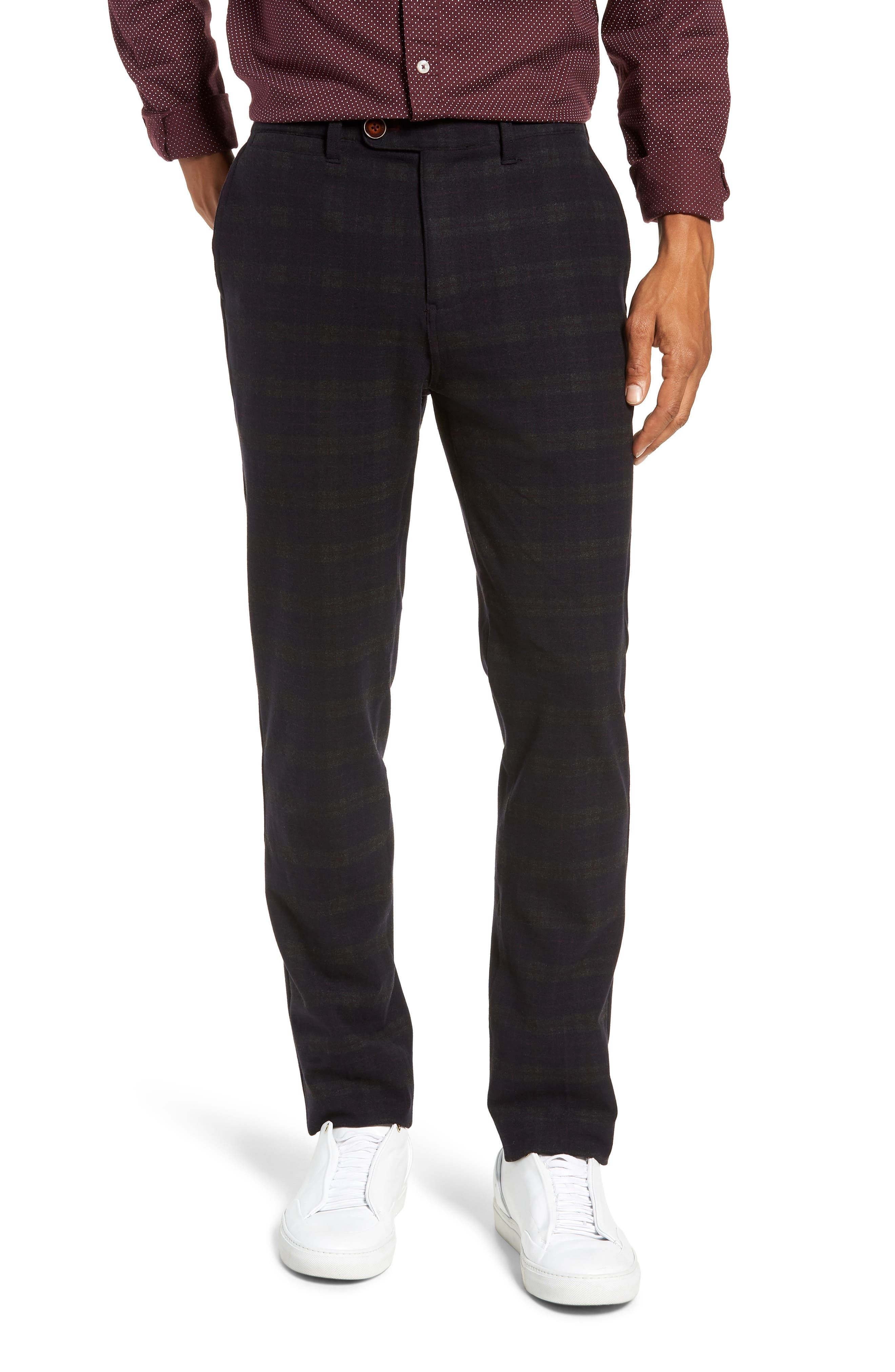Thomas Straight Leg Chinos,                         Main,                         color, MIDNIGHT/ RED/ CHARCOAL