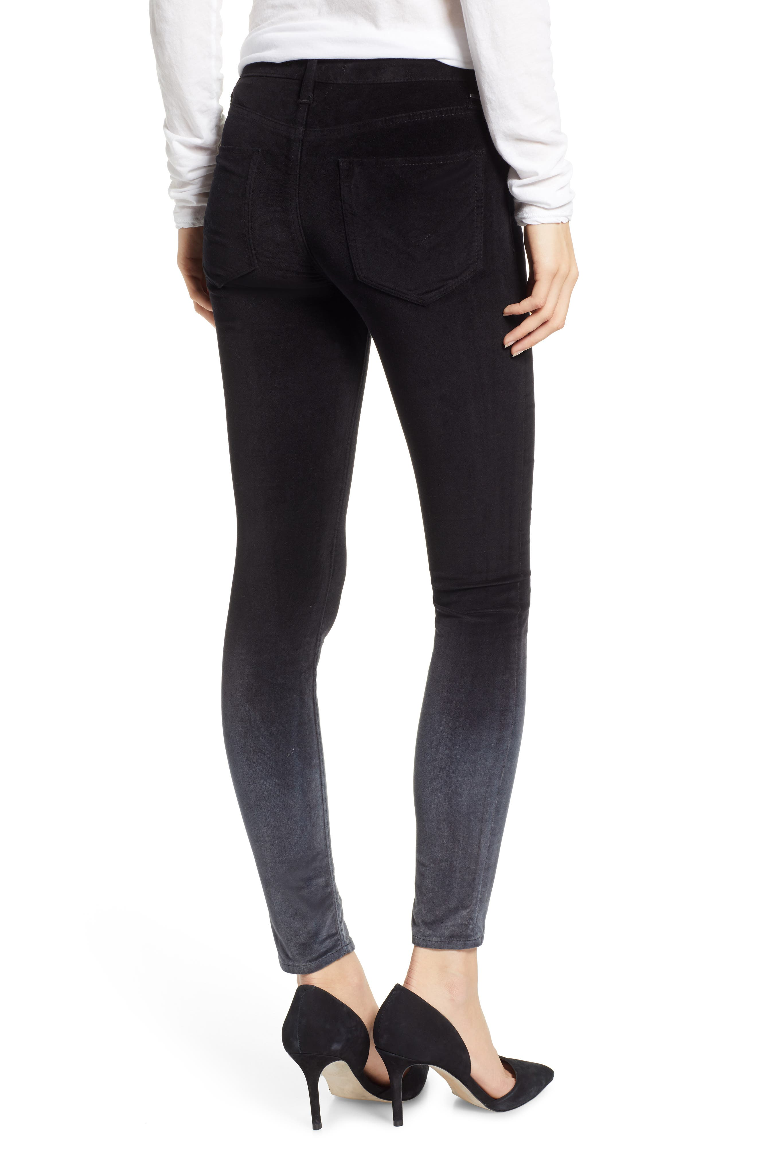 Nico Ankle Super Skinny Jeans,                             Alternate thumbnail 2, color,                             DEGRADE BLACK SLATE