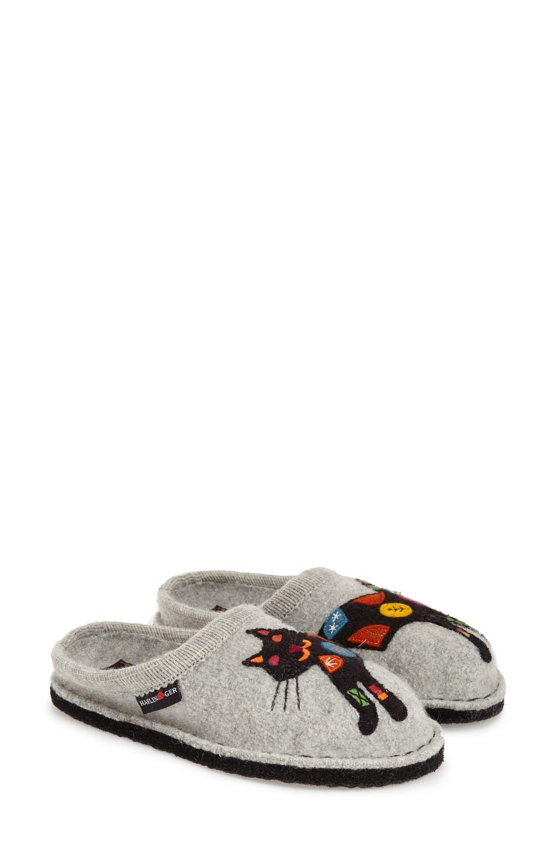'Cat' Slipper,                         Main,                         color, GREY WOOL