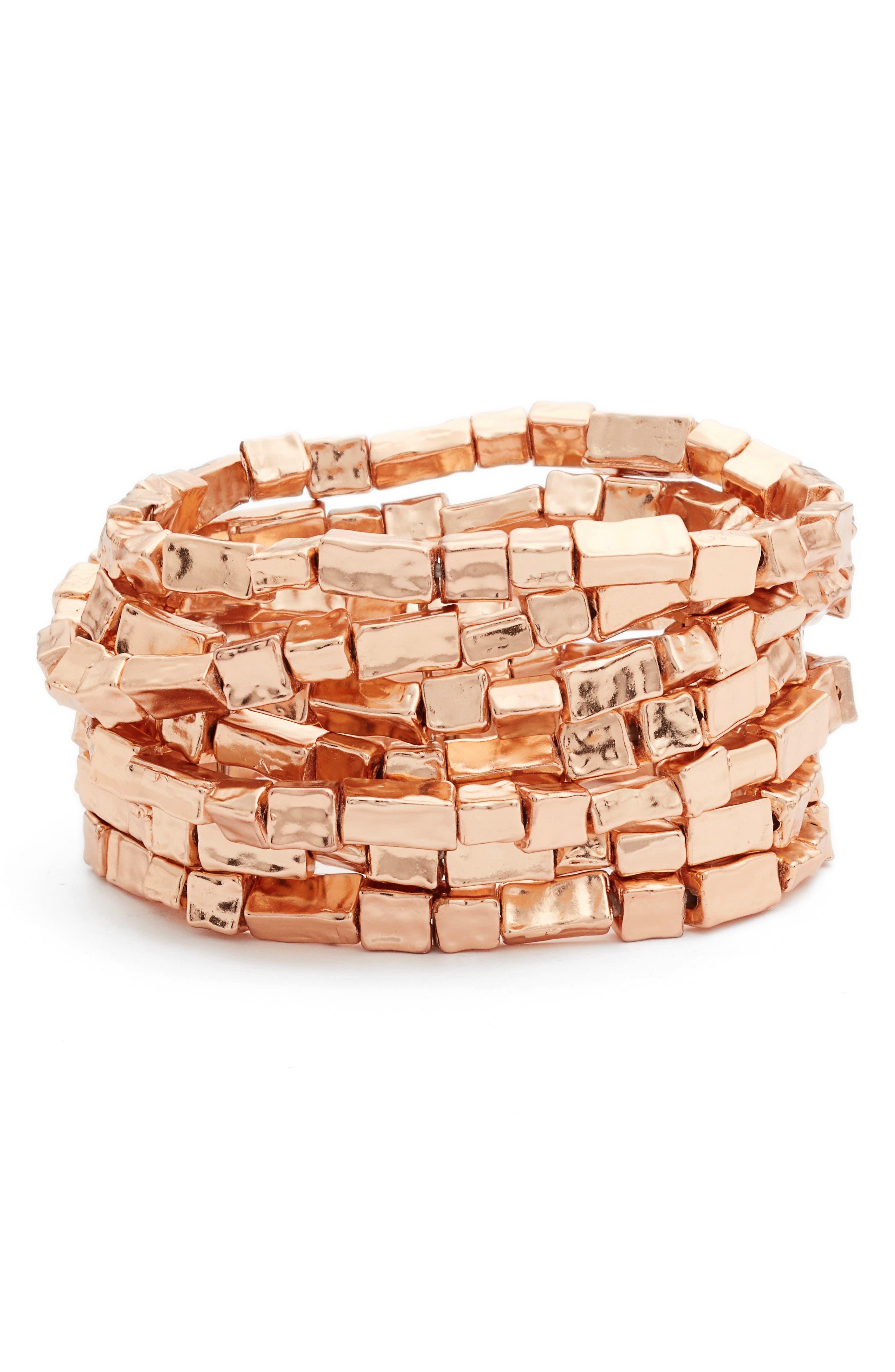 Bracelets,                         Main,                         color, ROSE GOLD
