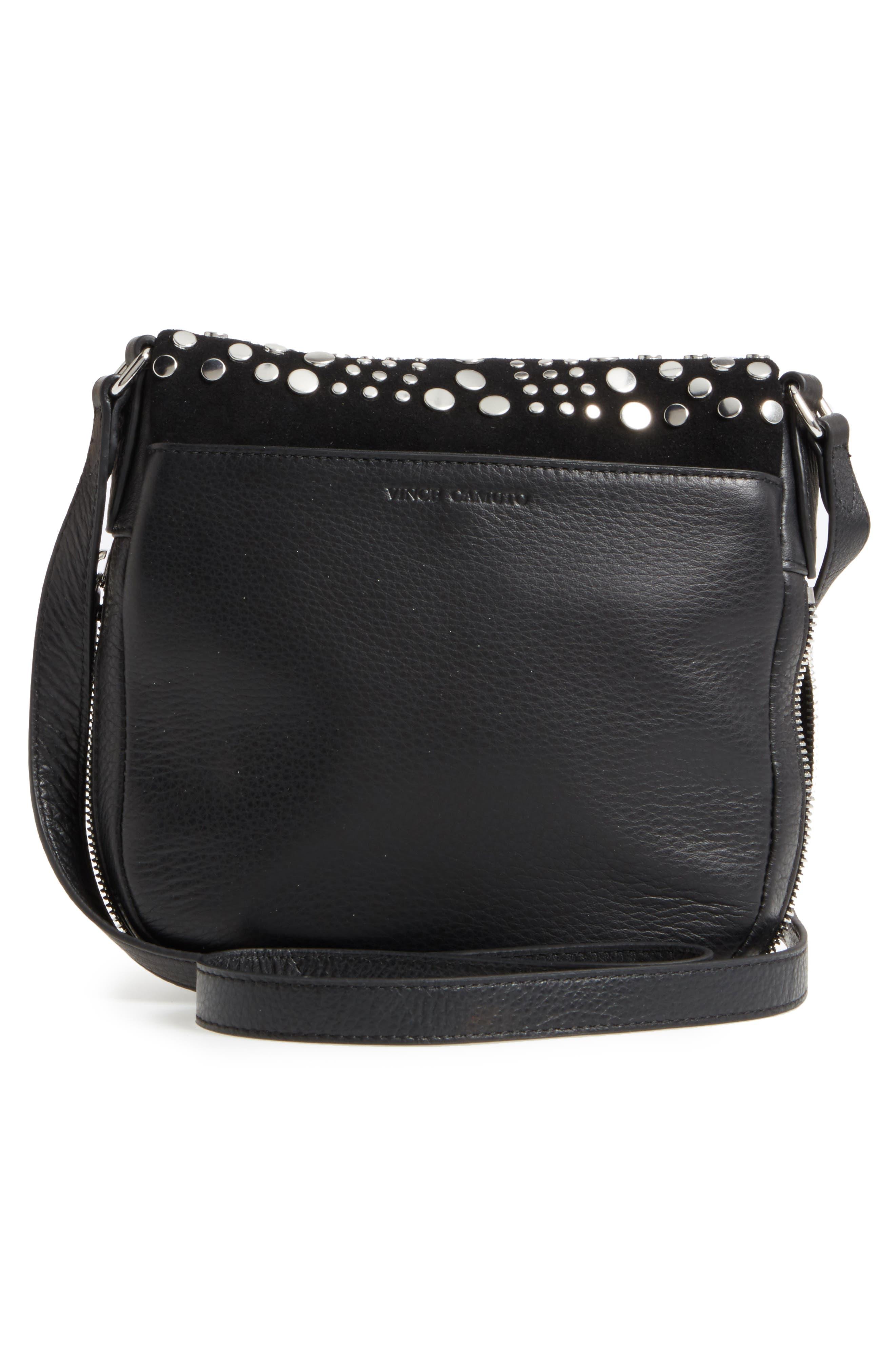 Bonny Studded Leather Crossbody Bag,                             Alternate thumbnail 5, color,