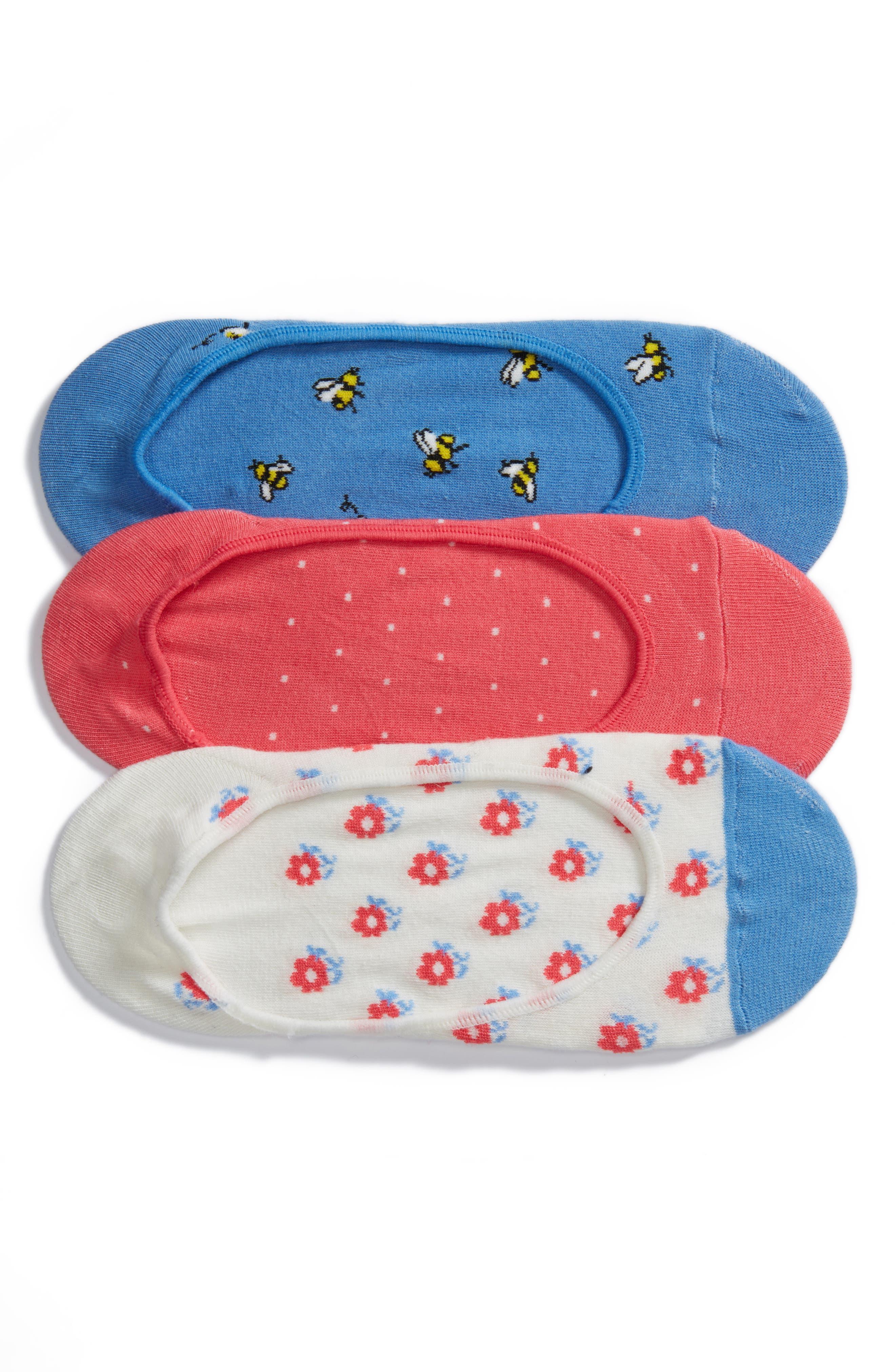 3-pack abuzz no-show socks,                         Main,                         color, 423
