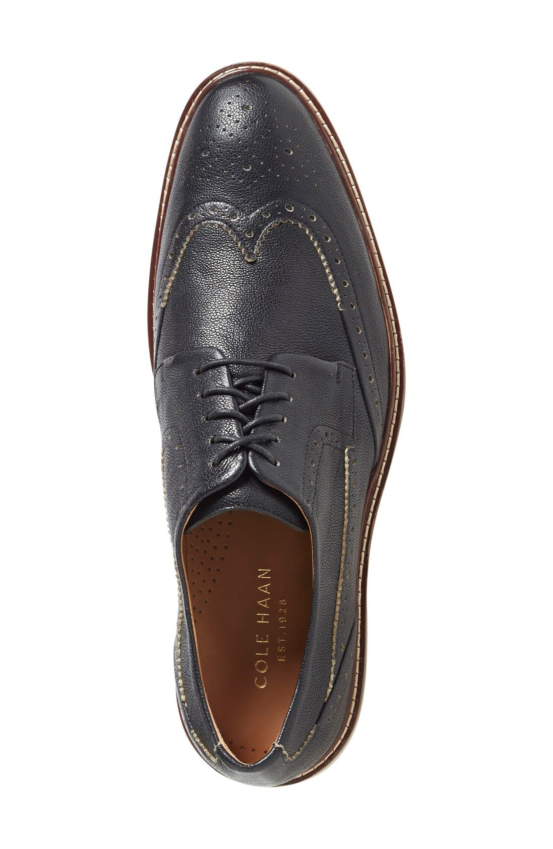 Warren Welt Wingtip,                             Alternate thumbnail 3, color,                             BLACK MILL LEATHER