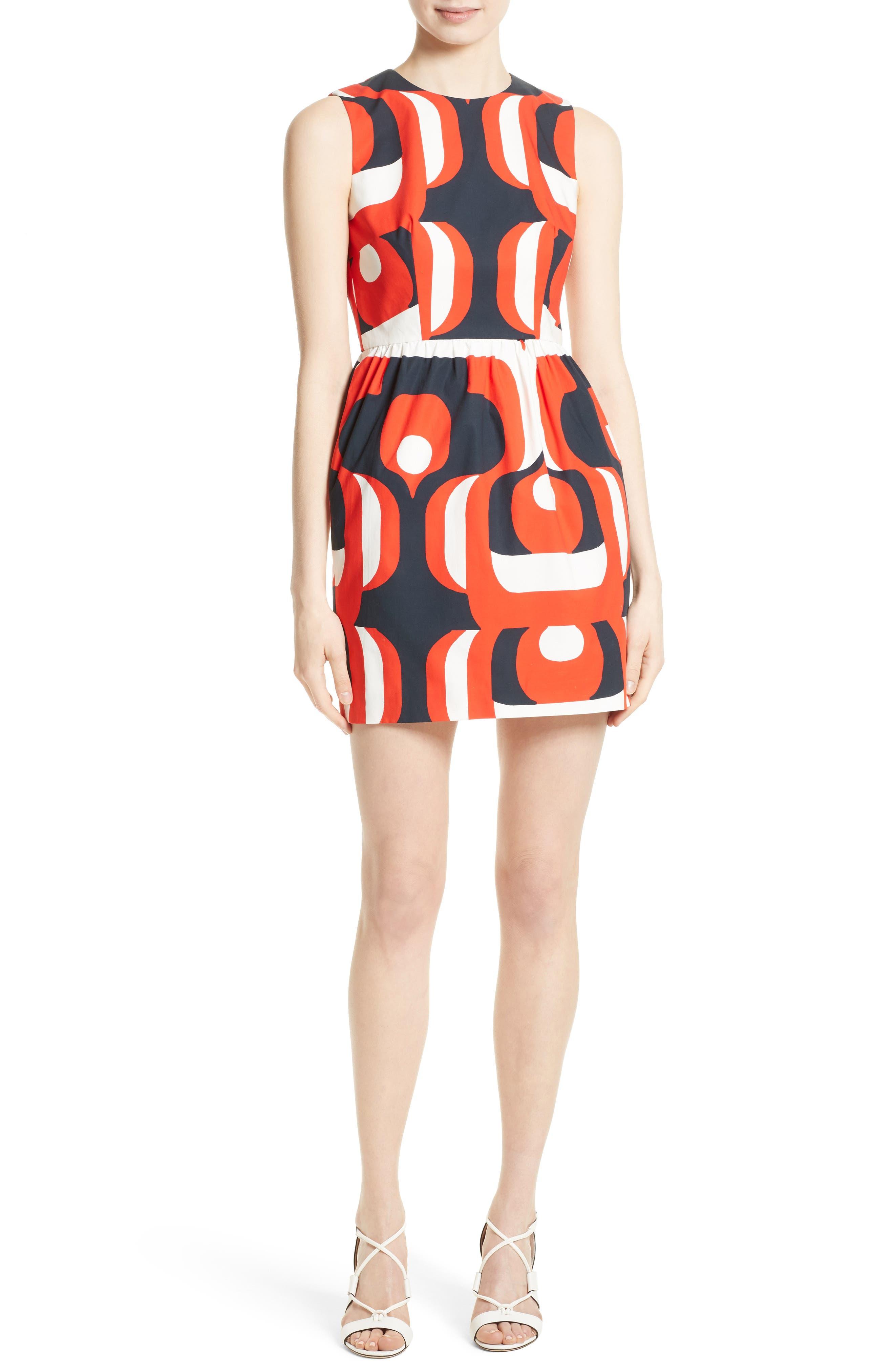 Miranda Stretch Cotton Minidress,                         Main,                         color, 604