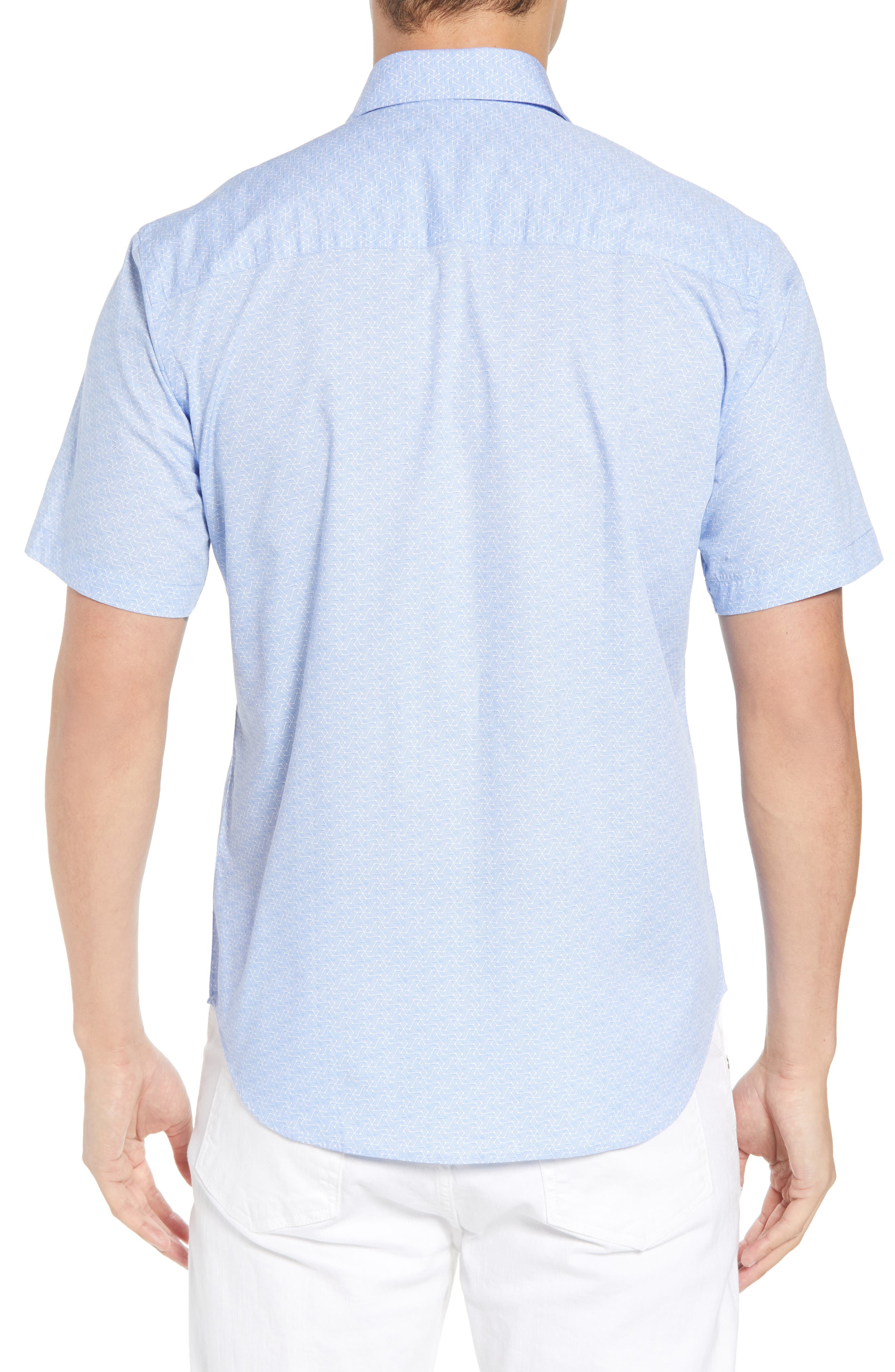 Acton Regular Fit Geo Print Sport Shirt,                             Alternate thumbnail 2, color,                             450