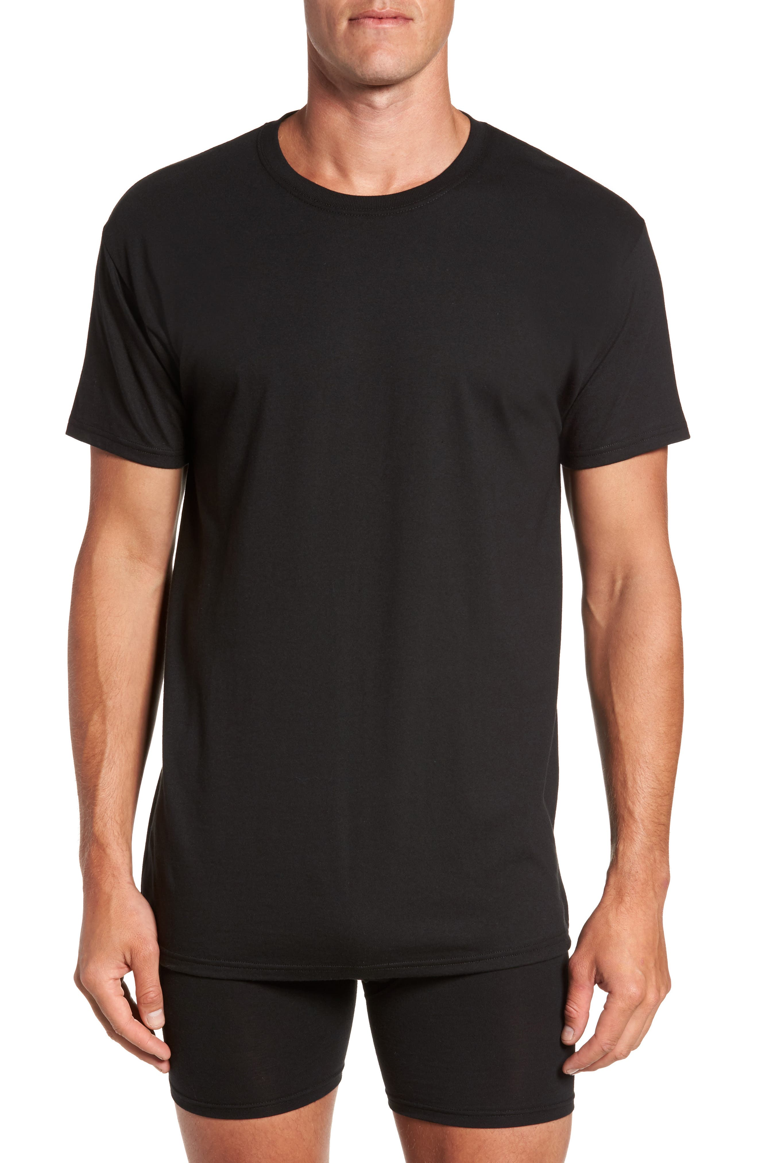 Luxury Essentials 3-Pack Crewneck T-Shirt,                             Main thumbnail 1, color,                             001