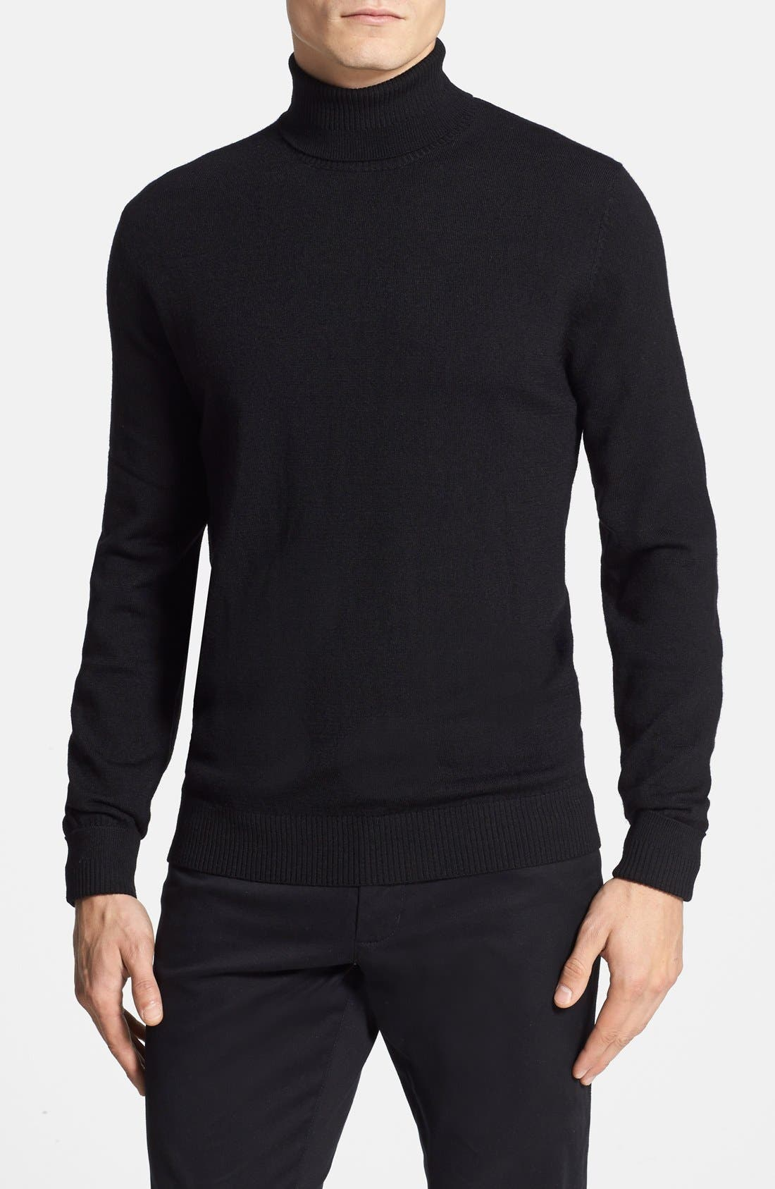Vince Camuto Merino Wool Turtleneck, Black