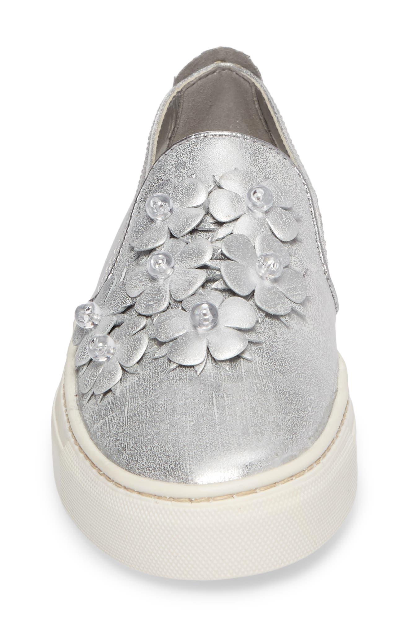 Sneak Blossom Slip-On Sneaker,                             Alternate thumbnail 4, color,                             020