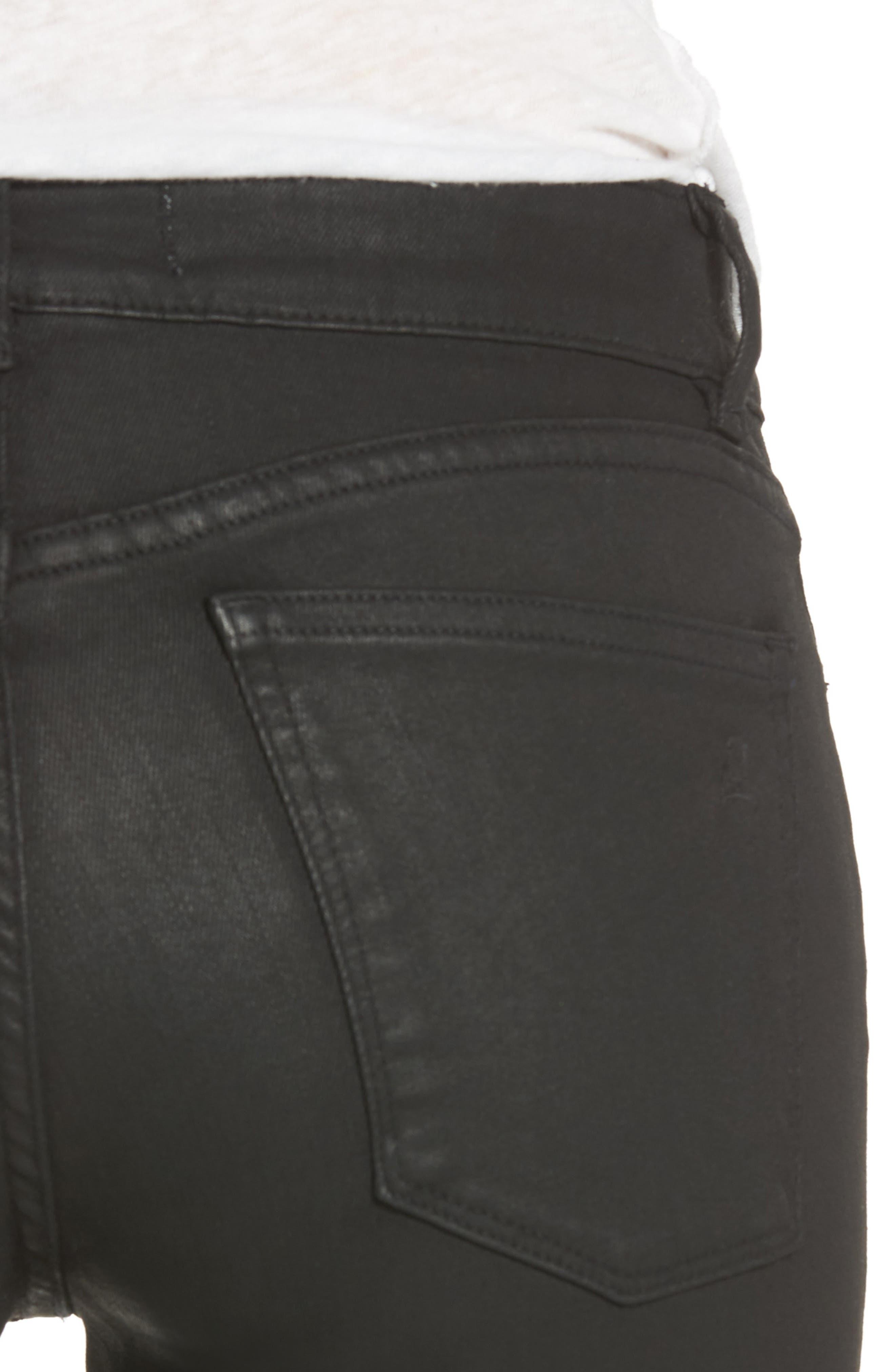 Emma Coated Power Legging Jeans,                             Alternate thumbnail 4, color,                             MEDINA