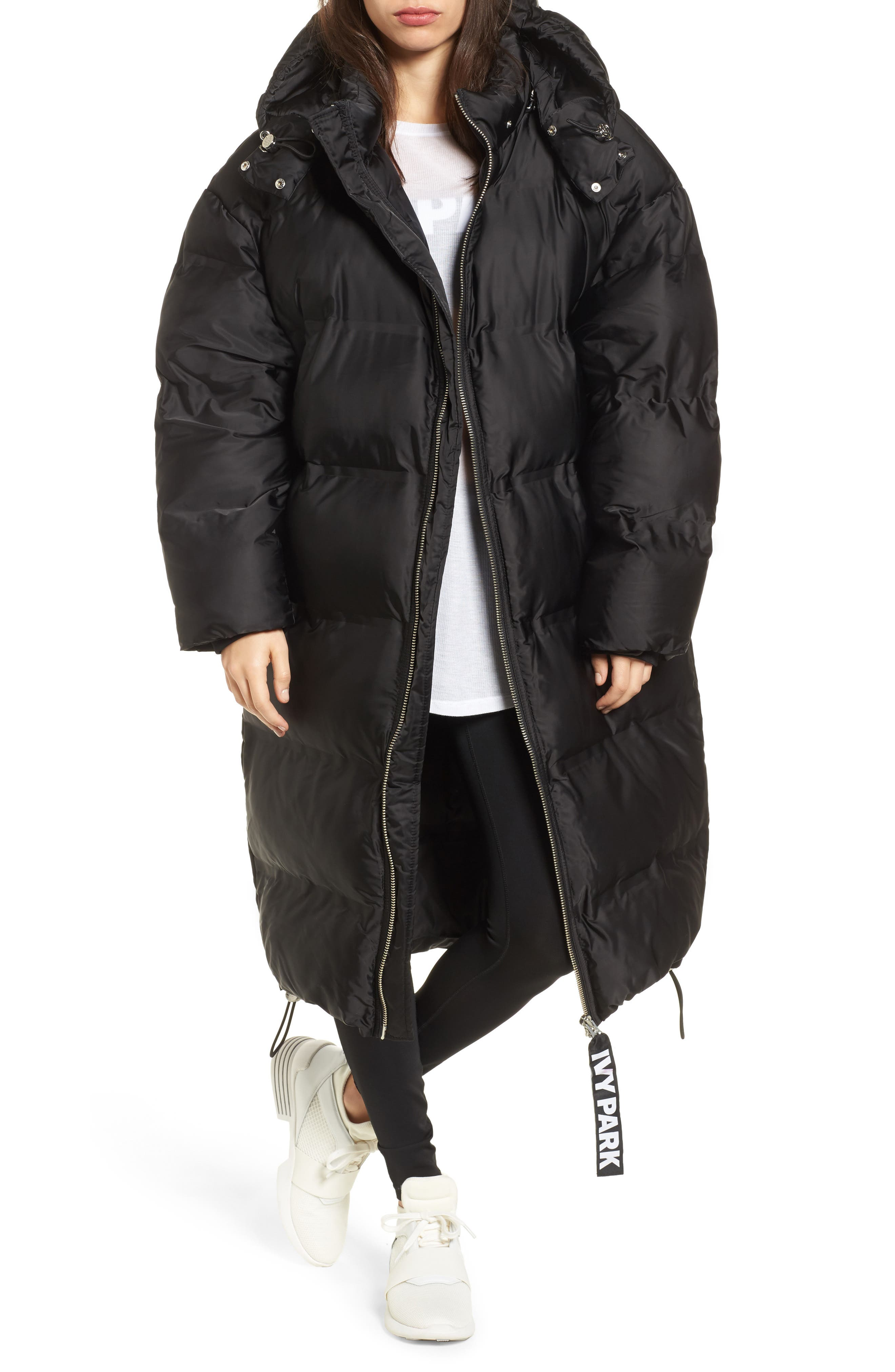 Longline Bonded Puffer Jacket,                             Main thumbnail 1, color,