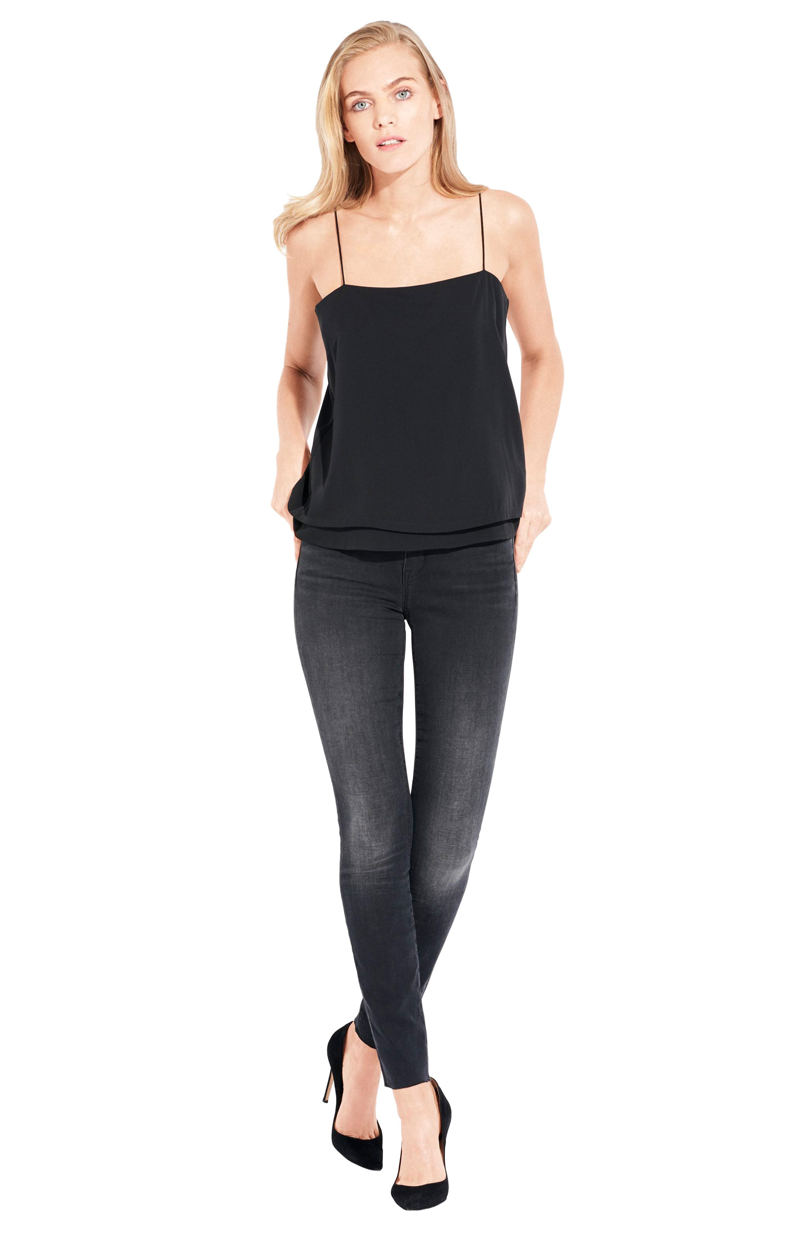The Skinny Stretch Denim Jeans,                             Alternate thumbnail 7, color,                             001