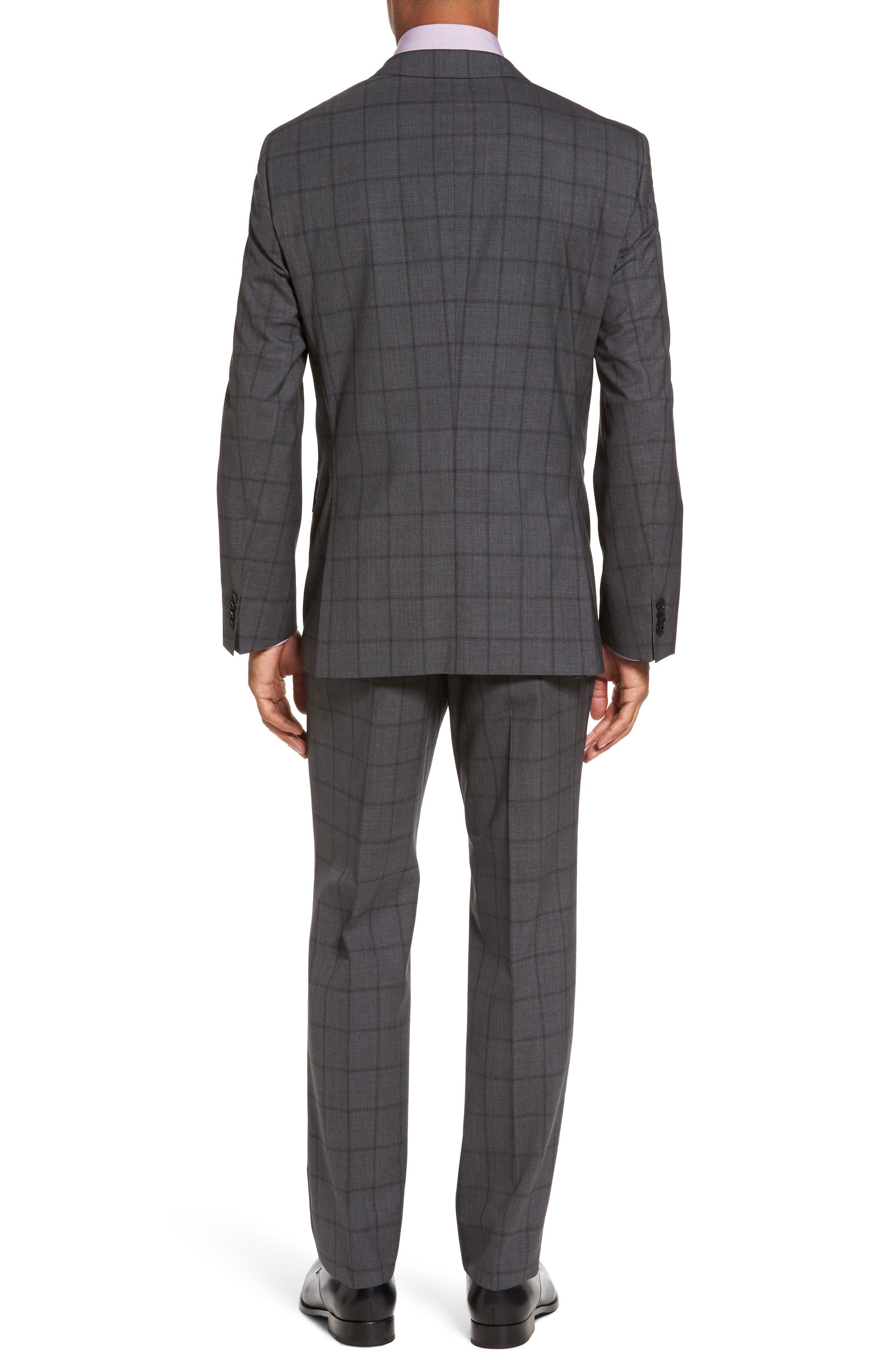 Huge/Genius Trim Fit Check Suit,                             Alternate thumbnail 2, color,                             061