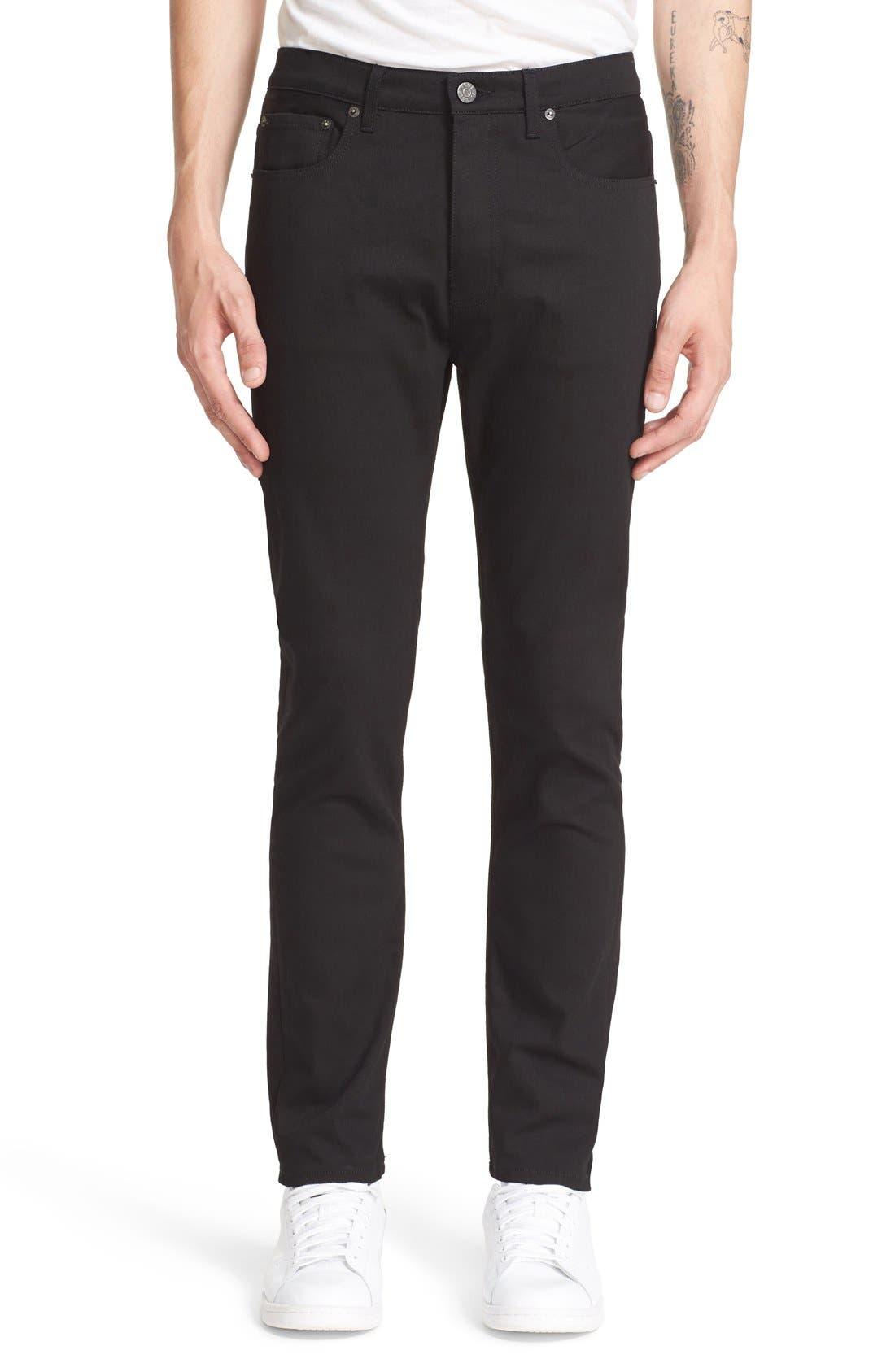 ACNE STUDIOS Town Straight Leg Jeans, Main, color, 001