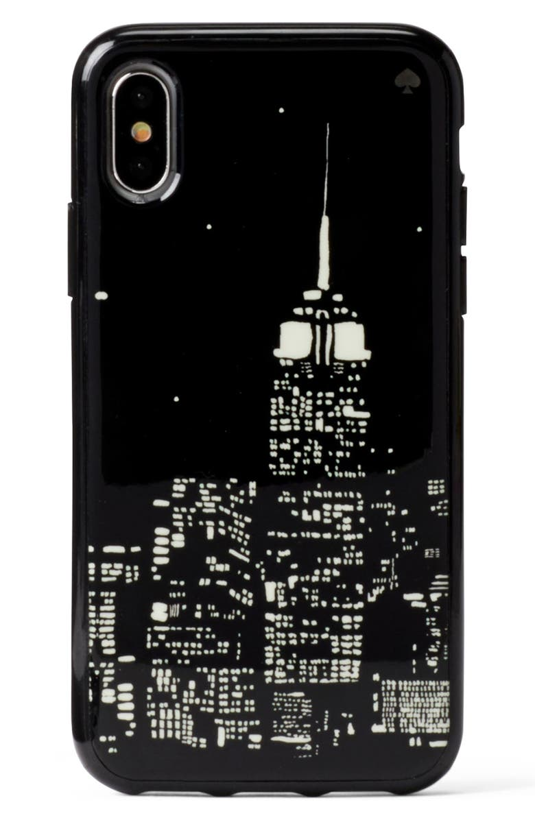 6c77d0a2a655 kate spade new york skyline glow in the dark iPhone X/Xs/Xs Max & XR ...