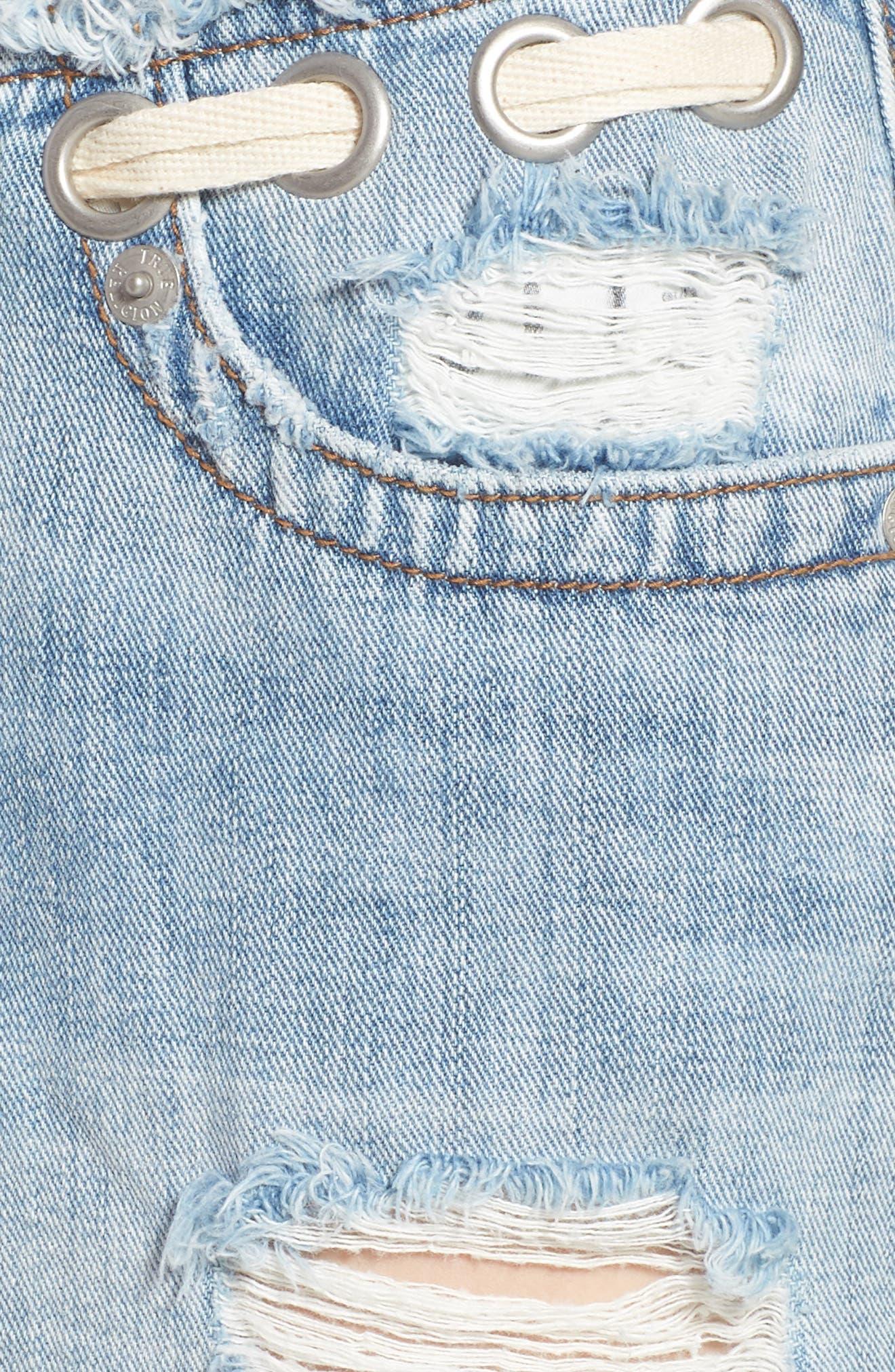 Fashion Distressed Denim Shorts,                             Alternate thumbnail 6, color,                             401