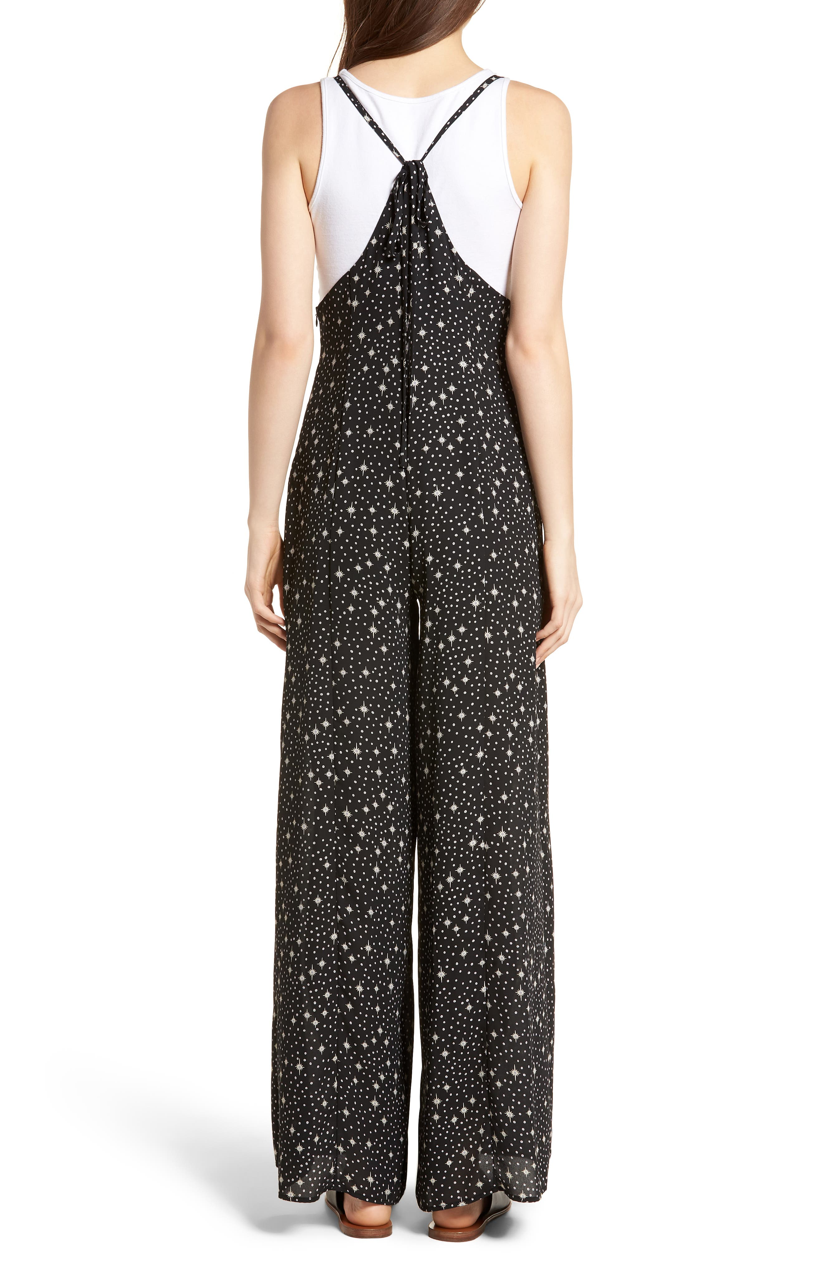 Wide Leg Jumpsuit,                             Alternate thumbnail 2, color,                             001