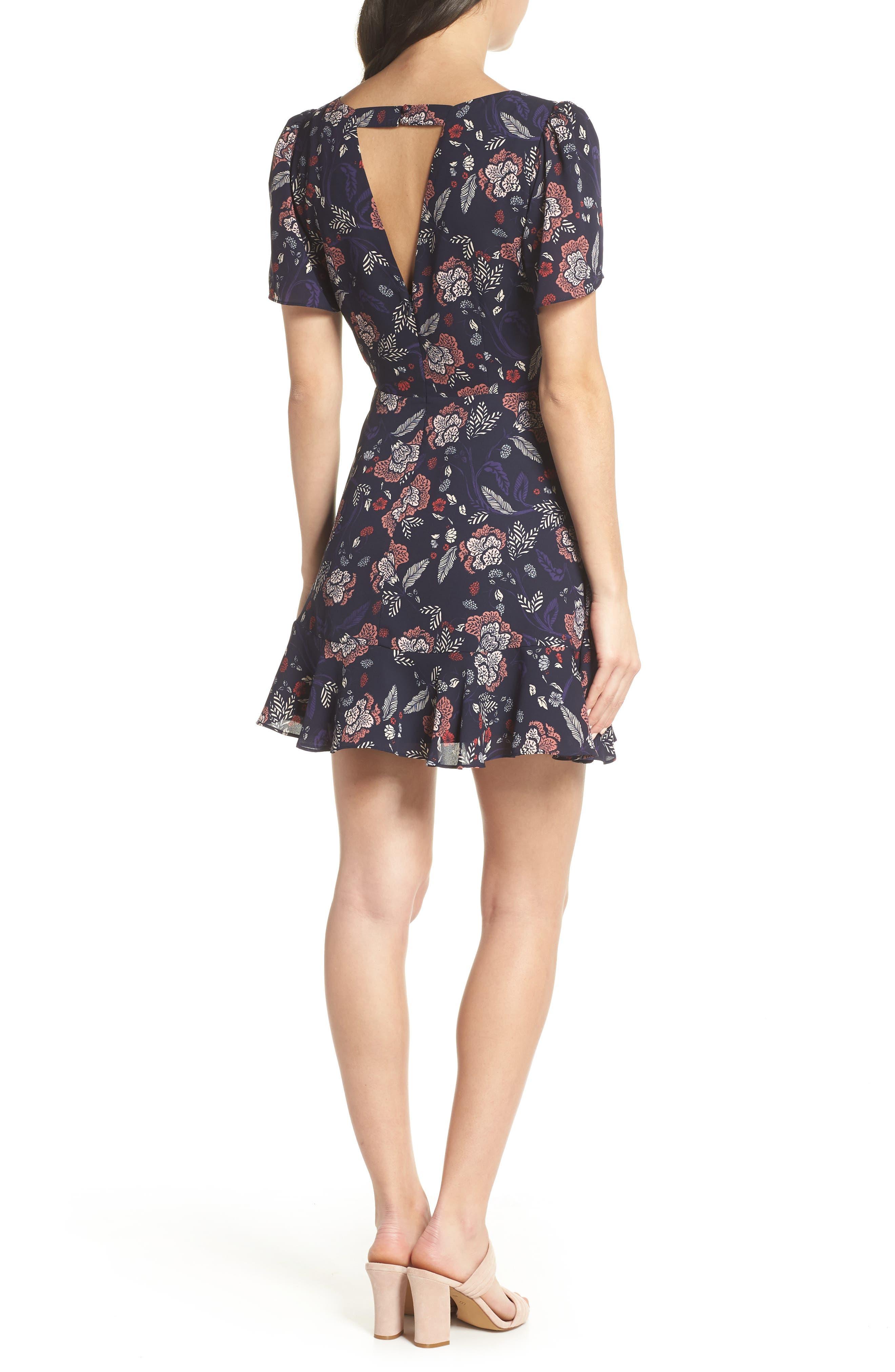 Cassidy Floral Minidress,                             Alternate thumbnail 2, color,                             410
