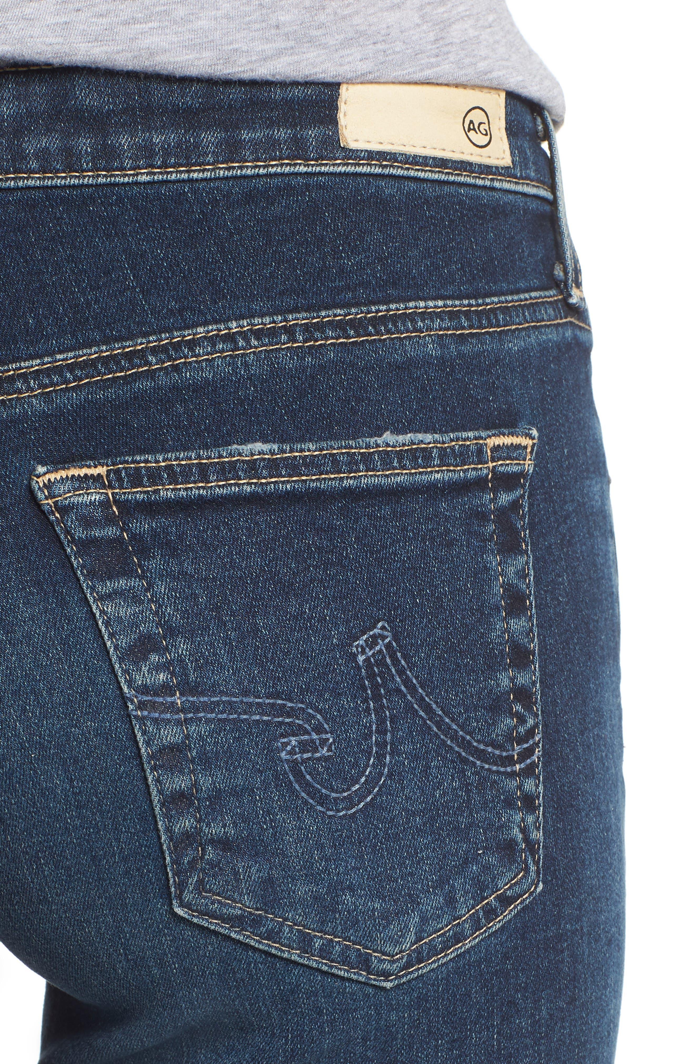The Legging Ankle Super Skinny Jeans,                             Alternate thumbnail 4, color,                             10Y TRANSCENDANCE
