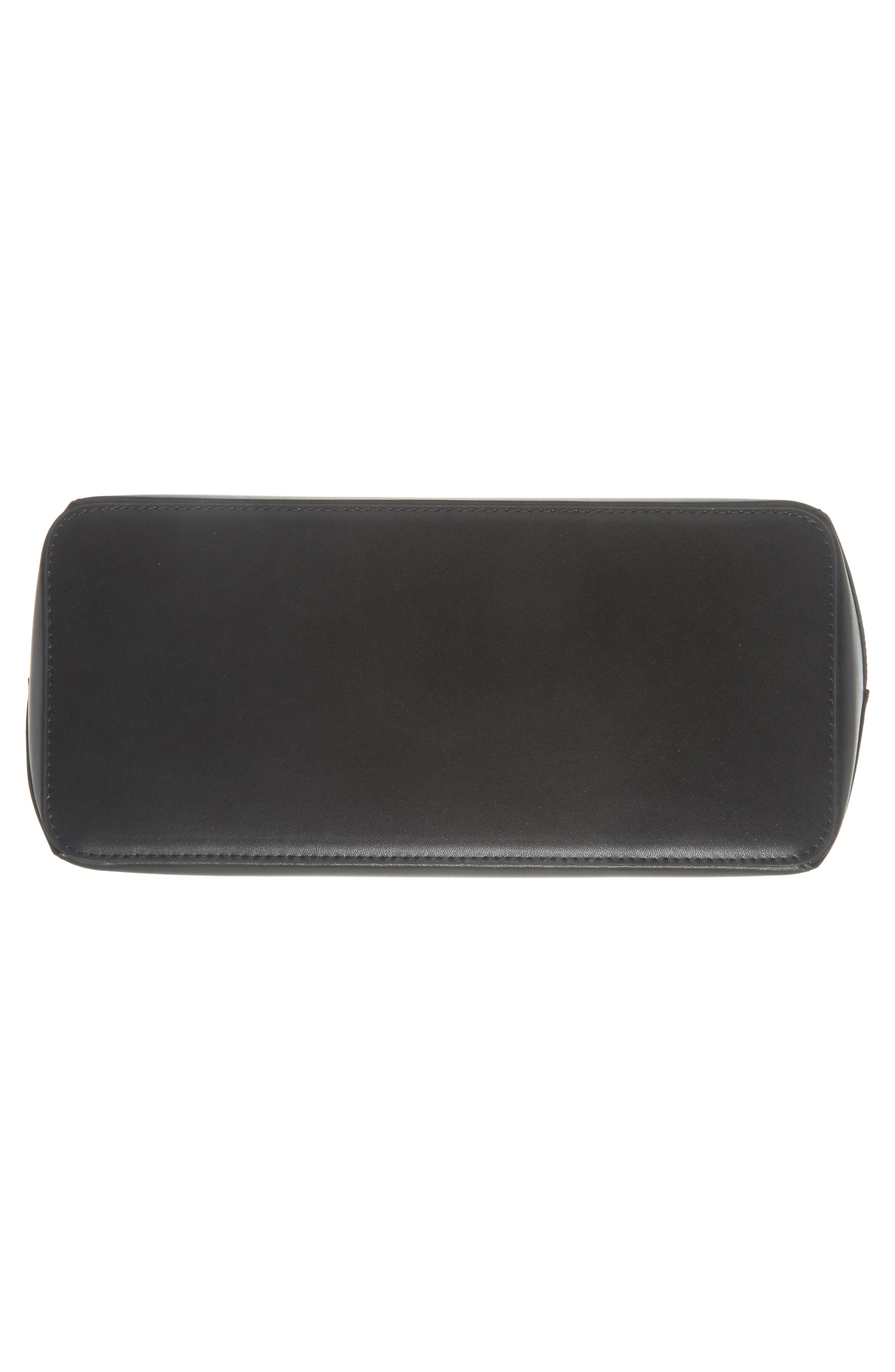 Jaceyy Adjustable Handle Leather Shopper,                             Alternate thumbnail 6, color,                             001