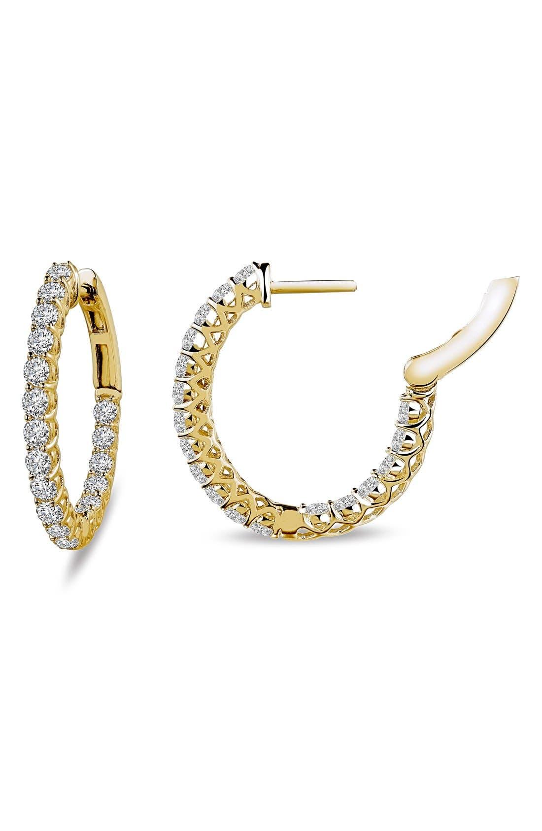 'Lassaire' Hoop Earrings,                             Main thumbnail 1, color,
