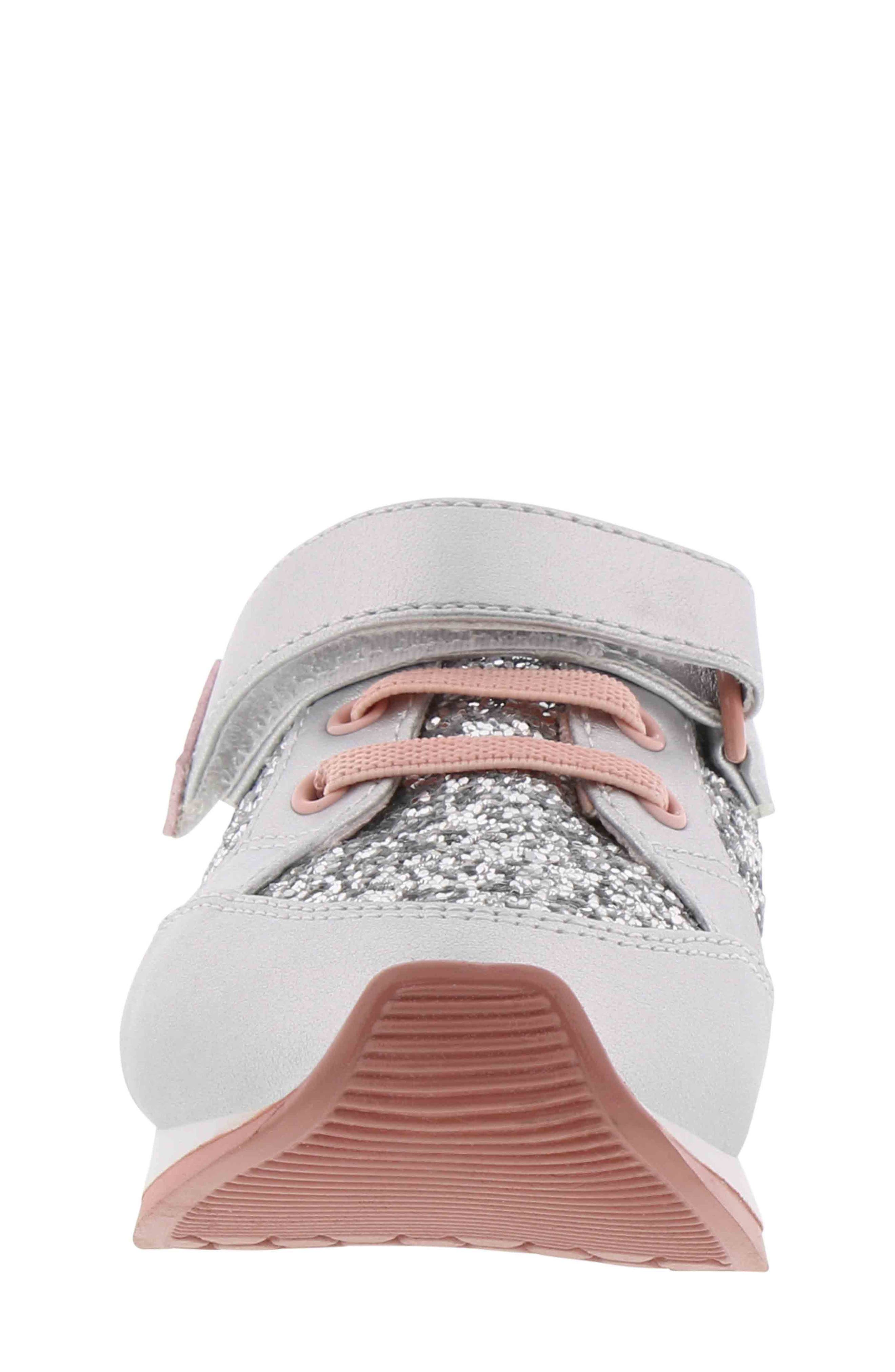 BØRN,                             Adyson Margyne Sparkle Sneaker,                             Alternate thumbnail 4, color,                             SILVER PINK